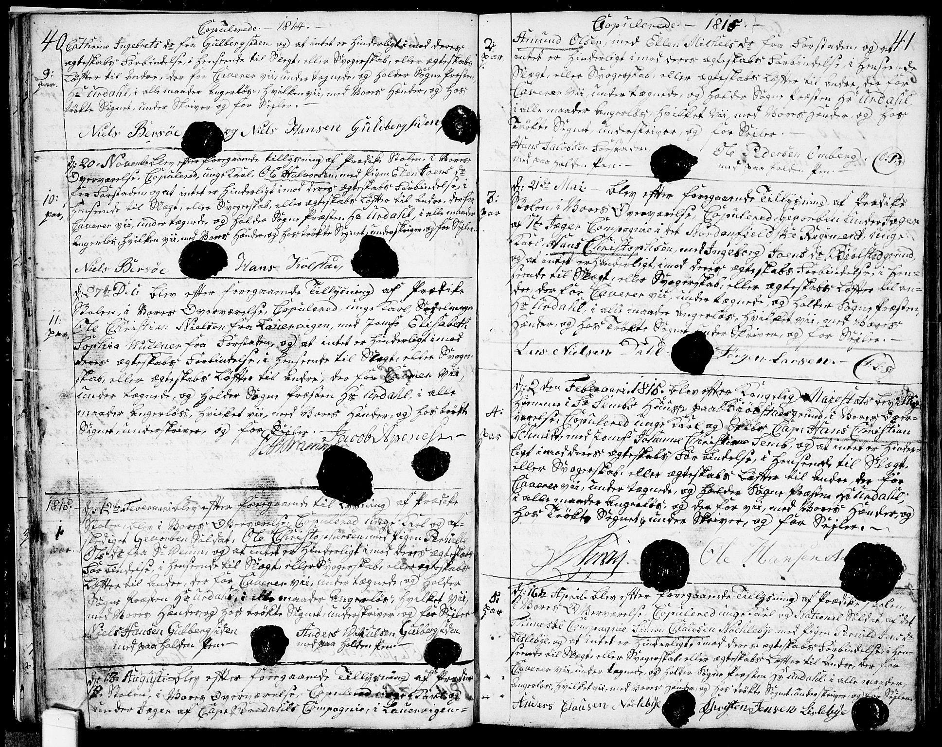SAO, Glemmen prestekontor Kirkebøker, F/Fa/L0003: Ministerialbok nr. 3, 1803-1815, s. 40-41
