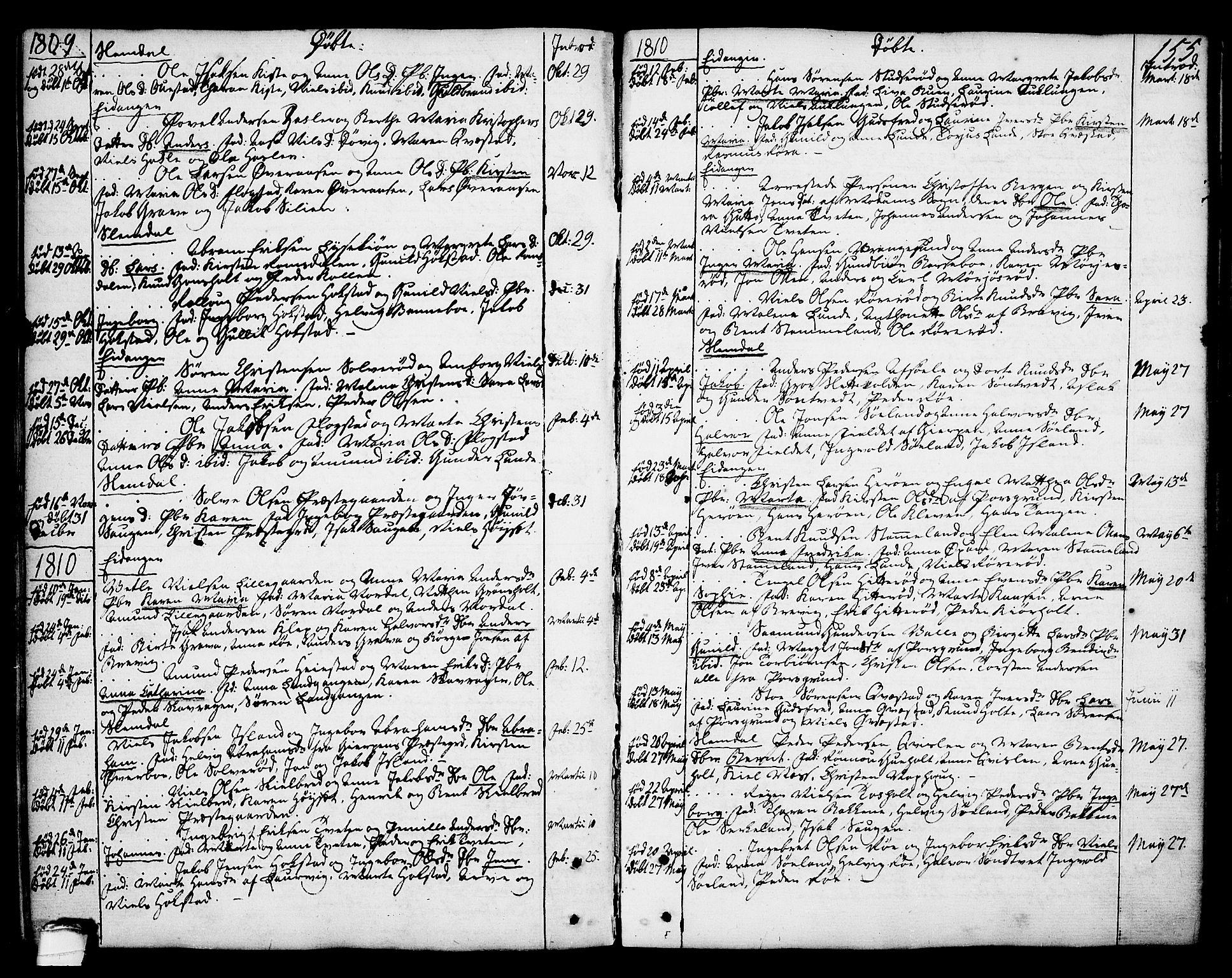 SAKO, Eidanger kirkebøker, F/Fa/L0006: Ministerialbok nr. 6, 1764-1814, s. 155
