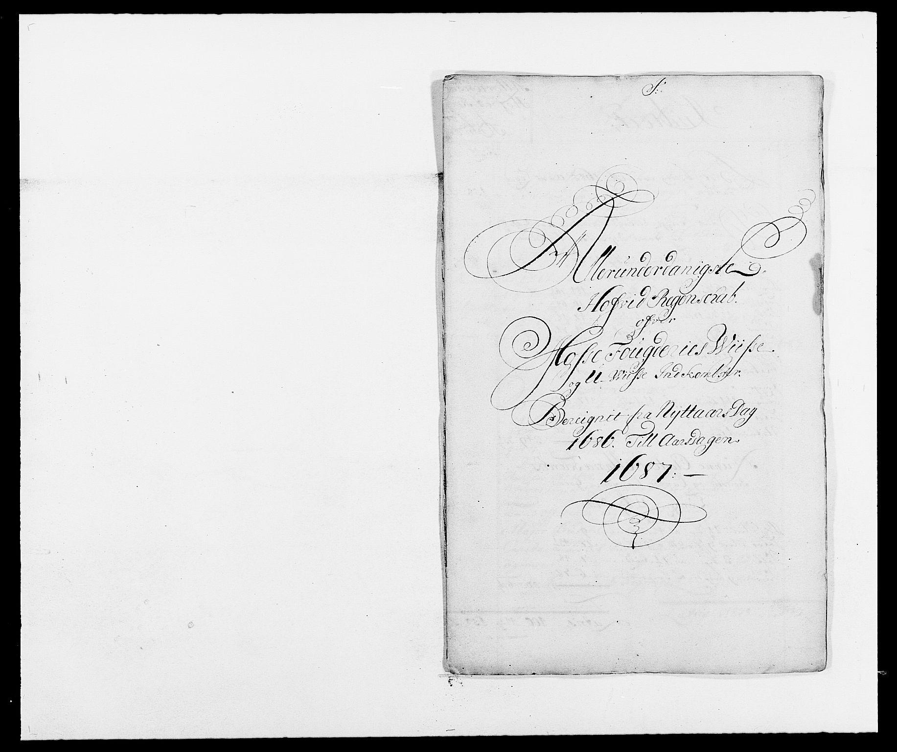 RA, Rentekammeret inntil 1814, Reviderte regnskaper, Fogderegnskap, R02/L0105: Fogderegnskap Moss og Verne kloster, 1685-1687, s. 119