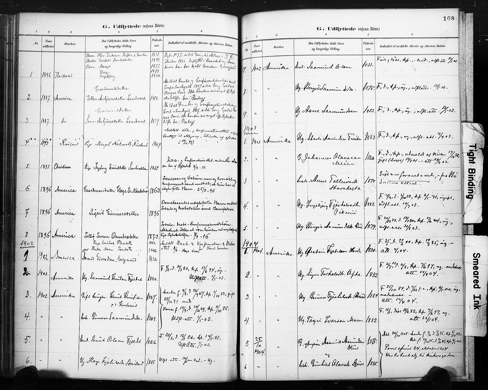 SAKO, Lårdal kirkebøker, F/Fc/L0002: Ministerialbok nr. III 2, 1887-1906, s. 108