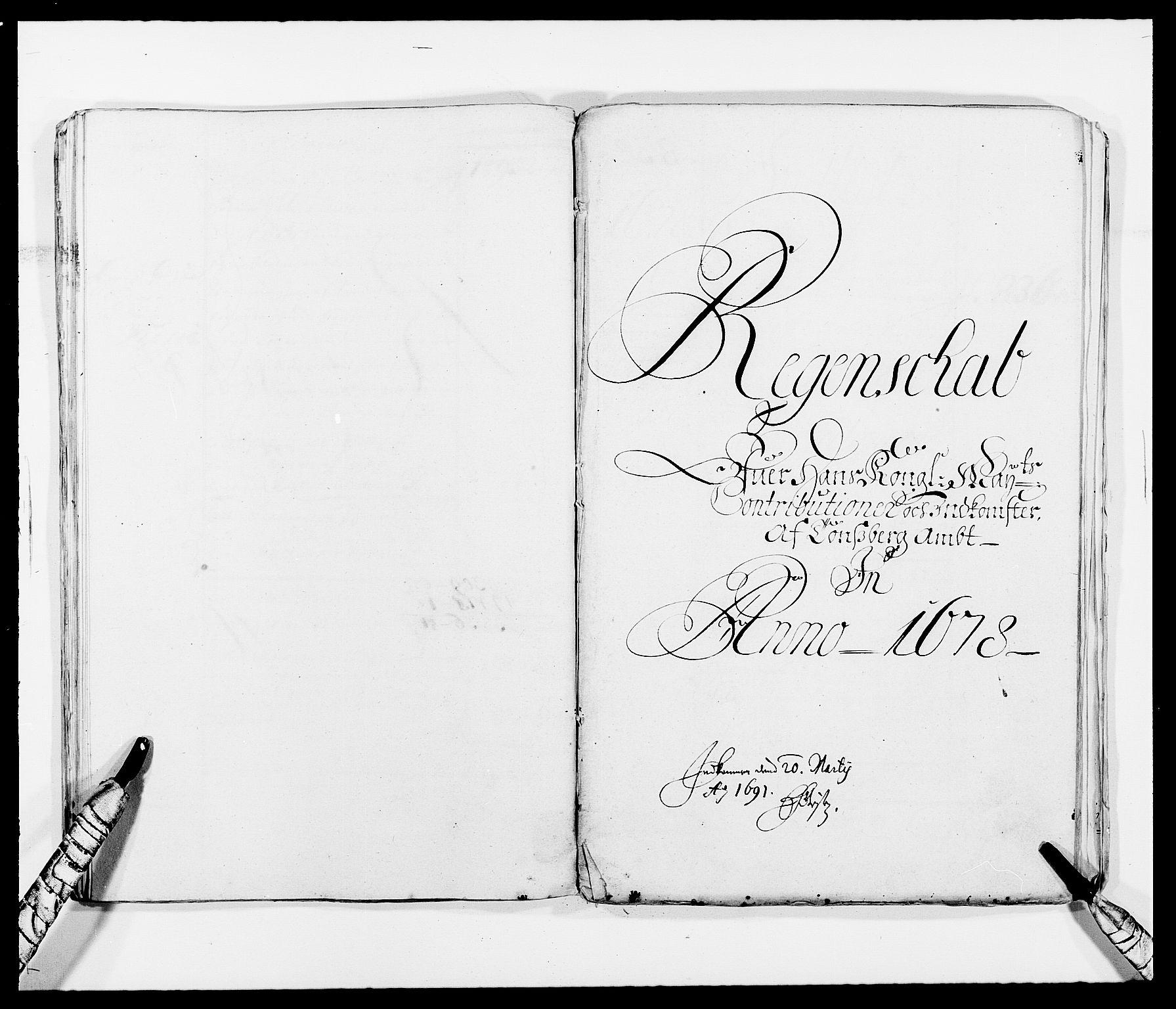 RA, Rentekammeret inntil 1814, Reviderte regnskaper, Fogderegnskap, R32/L1845: Fogderegnskap Jarlsberg grevskap, 1676-1678, s. 36