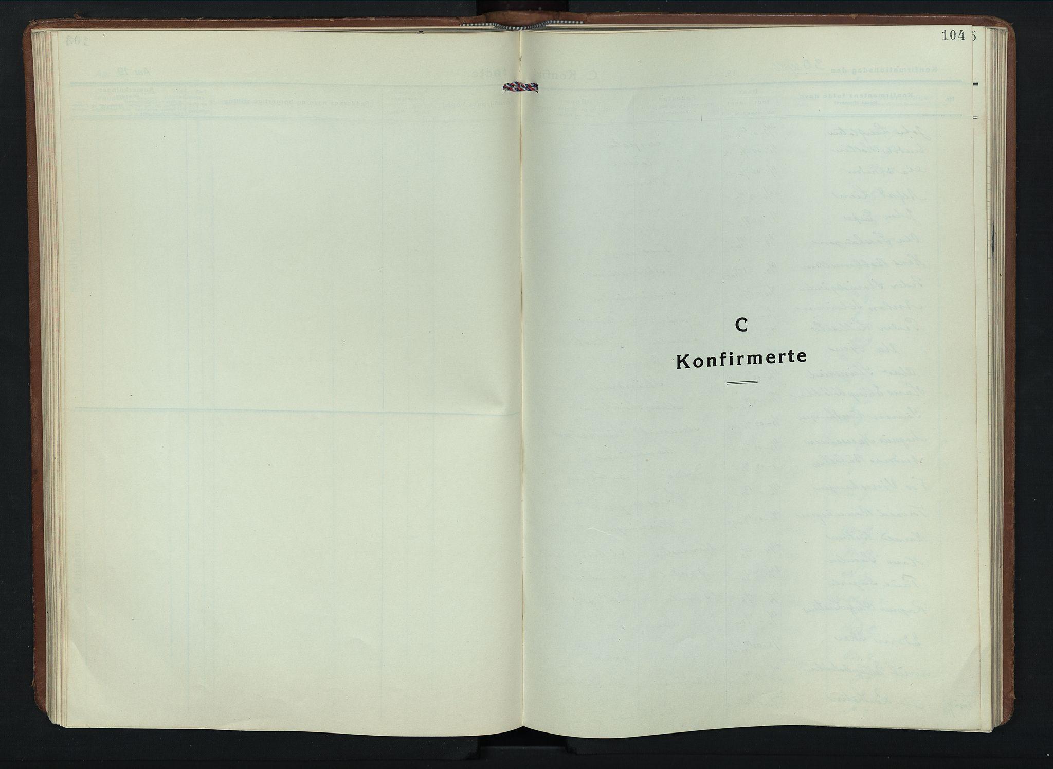 SAH, Sel prestekontor, Klokkerbok nr. 6, 1923-1953, s. 104