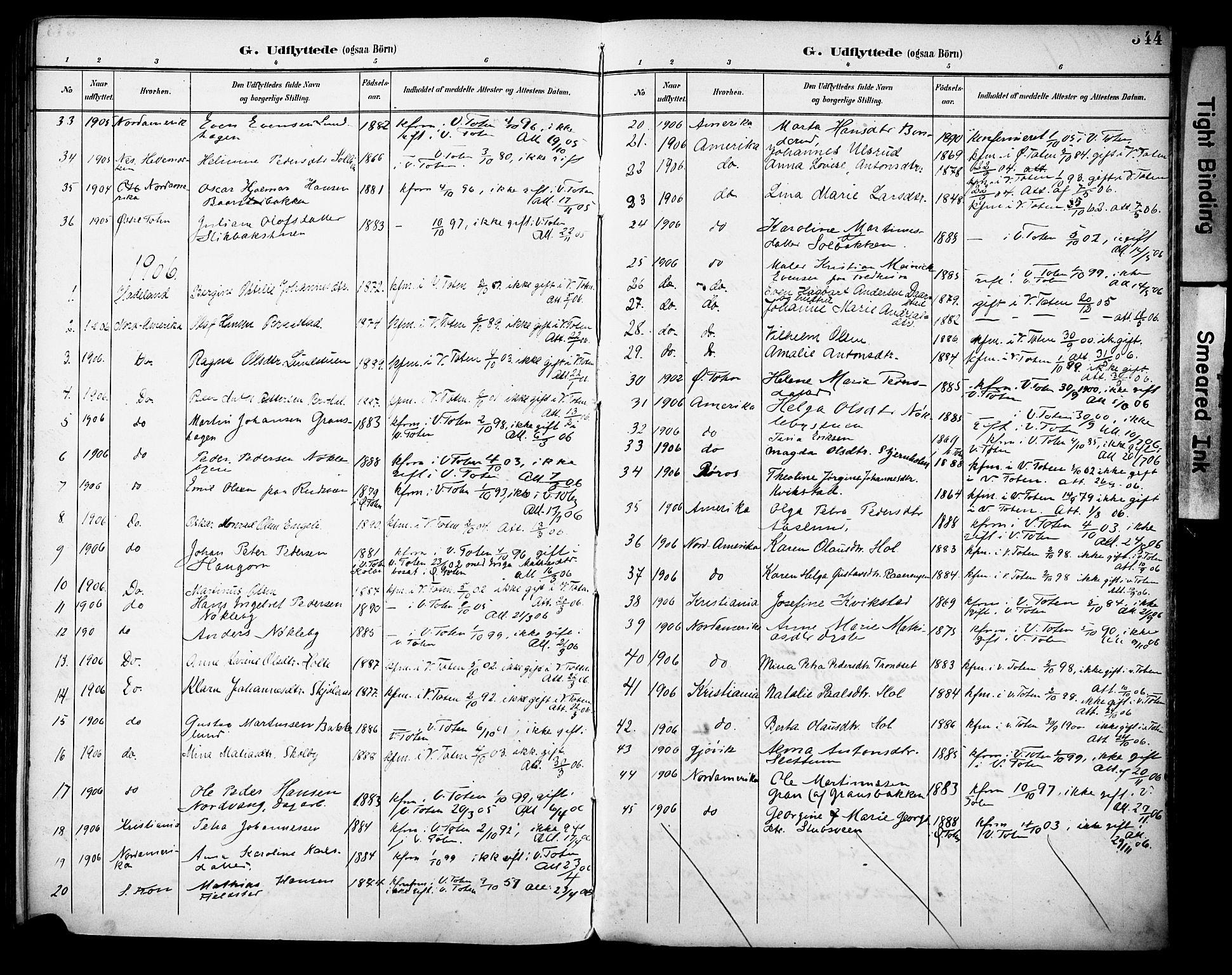SAH, Vestre Toten prestekontor, H/Ha/Haa/L0013: Ministerialbok nr. 13, 1895-1911, s. 344
