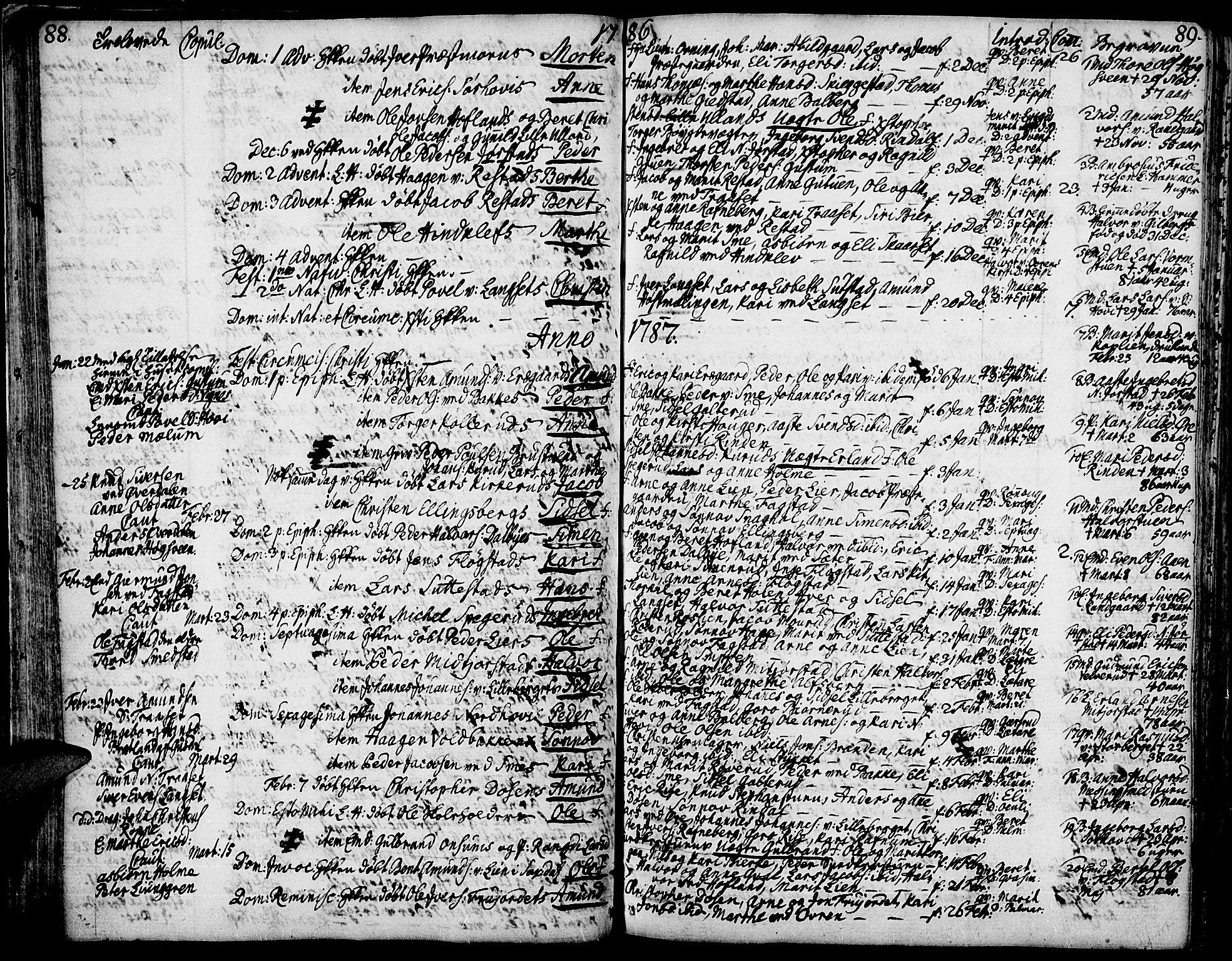 SAH, Fåberg prestekontor, Ministerialbok nr. 2, 1775-1818, s. 88-89