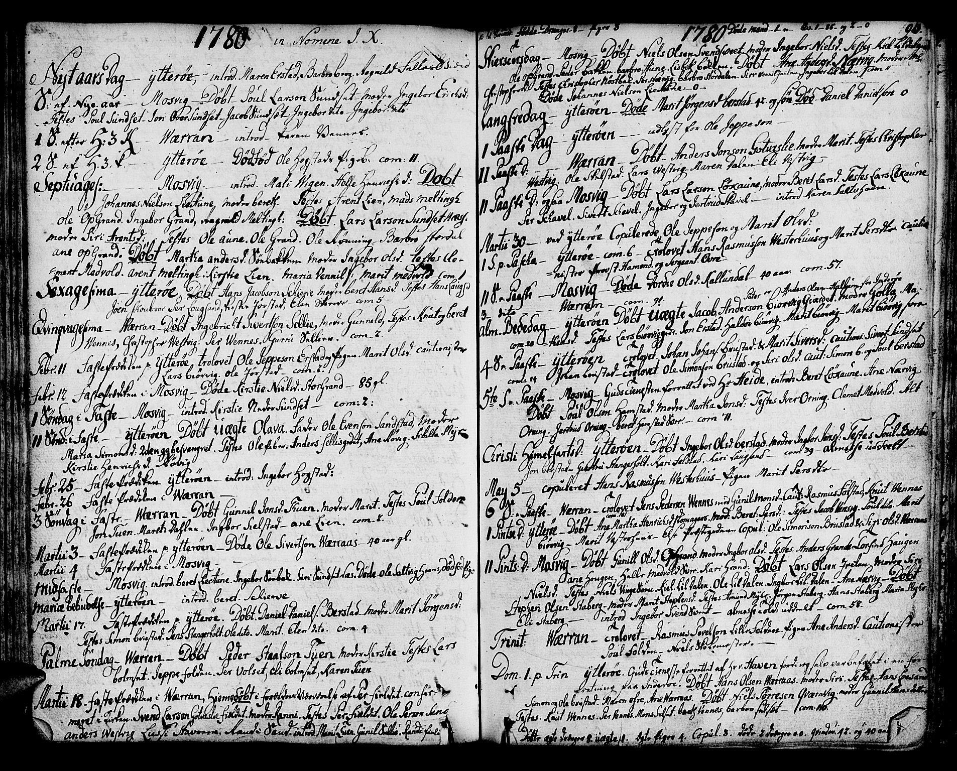 SAT, Ministerialprotokoller, klokkerbøker og fødselsregistre - Nord-Trøndelag, 722/L0216: Ministerialbok nr. 722A03, 1756-1816, s. 93