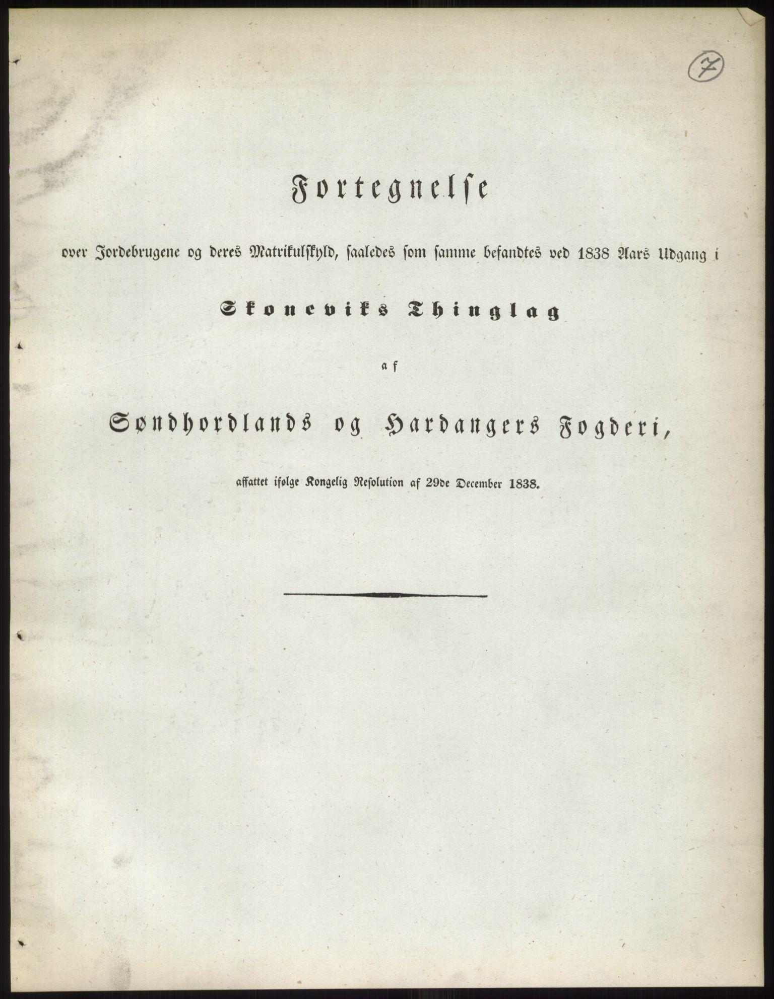 RA, 1838-matrikkelen (publikasjon)*, 1838, s. 7