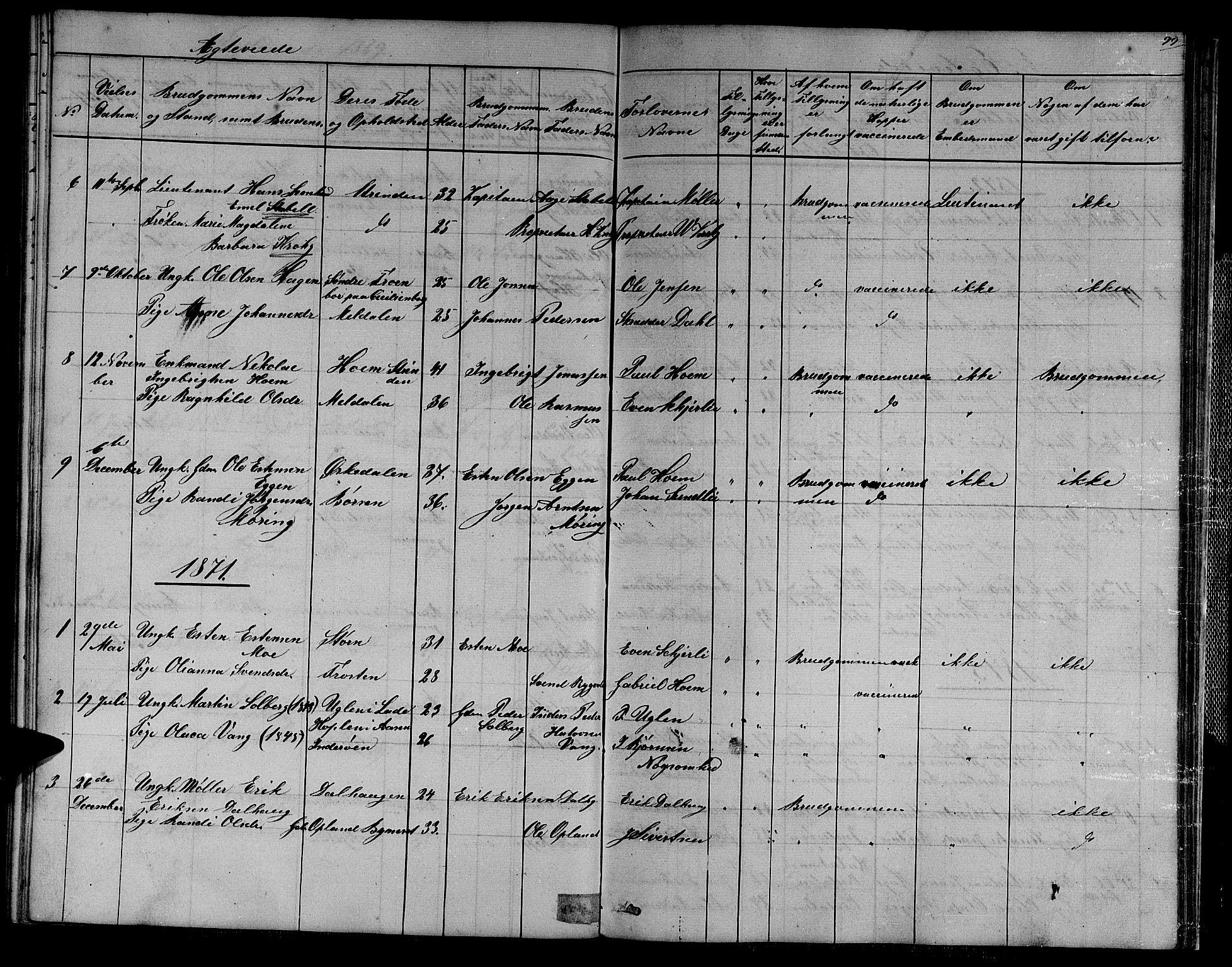 SAT, Ministerialprotokoller, klokkerbøker og fødselsregistre - Sør-Trøndelag, 611/L0353: Klokkerbok nr. 611C01, 1854-1881, s. 99