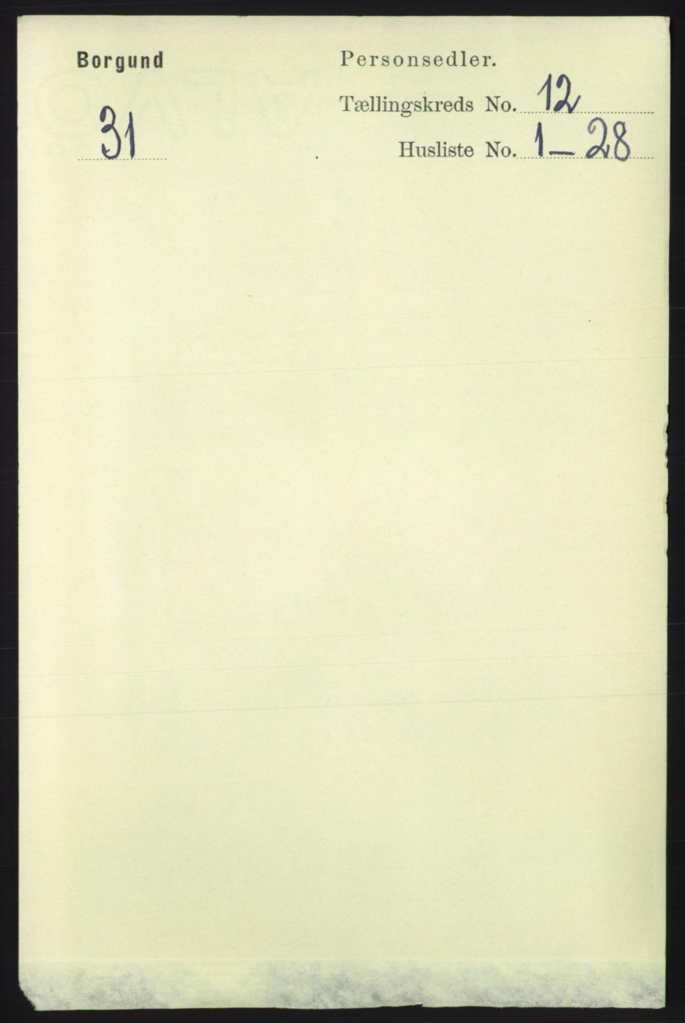 RA, Folketelling 1891 for 1531 Borgund herred, 1891, s. 3195