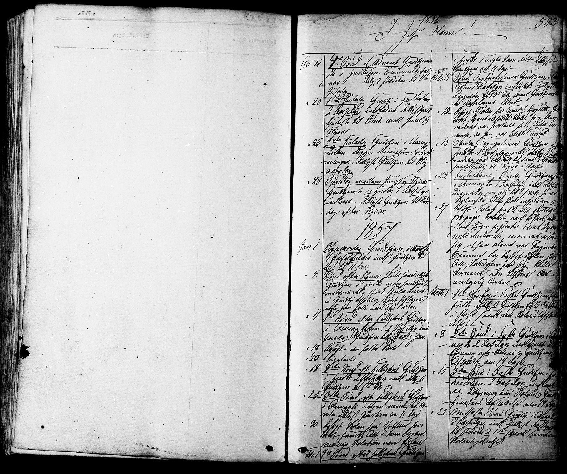 SAT, Ministerialprotokoller, klokkerbøker og fødselsregistre - Sør-Trøndelag, 665/L0772: Ministerialbok nr. 665A07, 1856-1878, s. 553