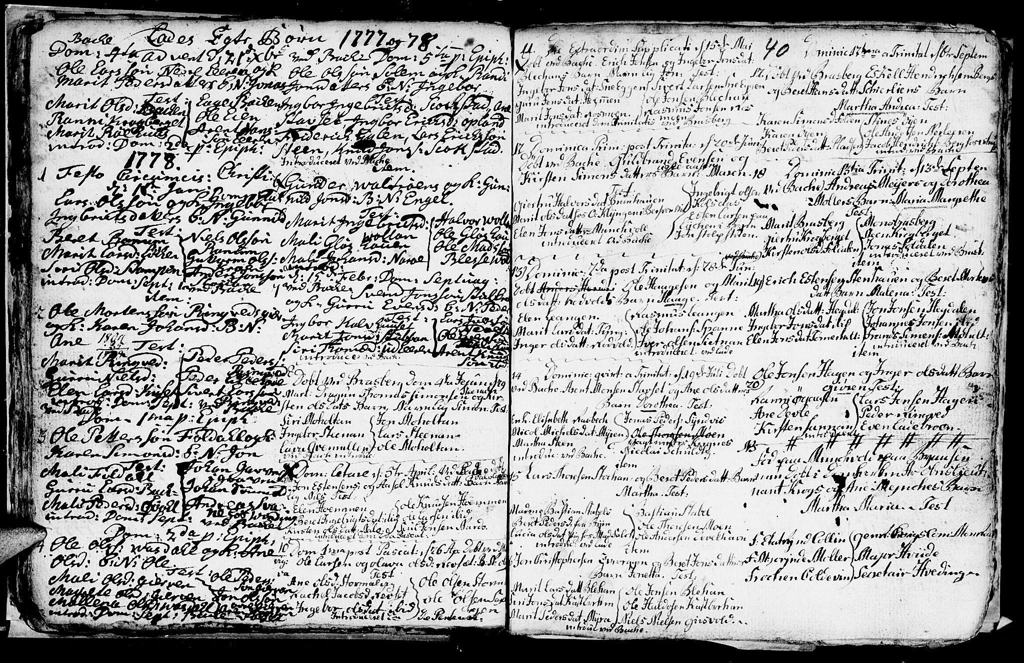 SAT, Ministerialprotokoller, klokkerbøker og fødselsregistre - Sør-Trøndelag, 606/L0305: Klokkerbok nr. 606C01, 1757-1819, s. 40
