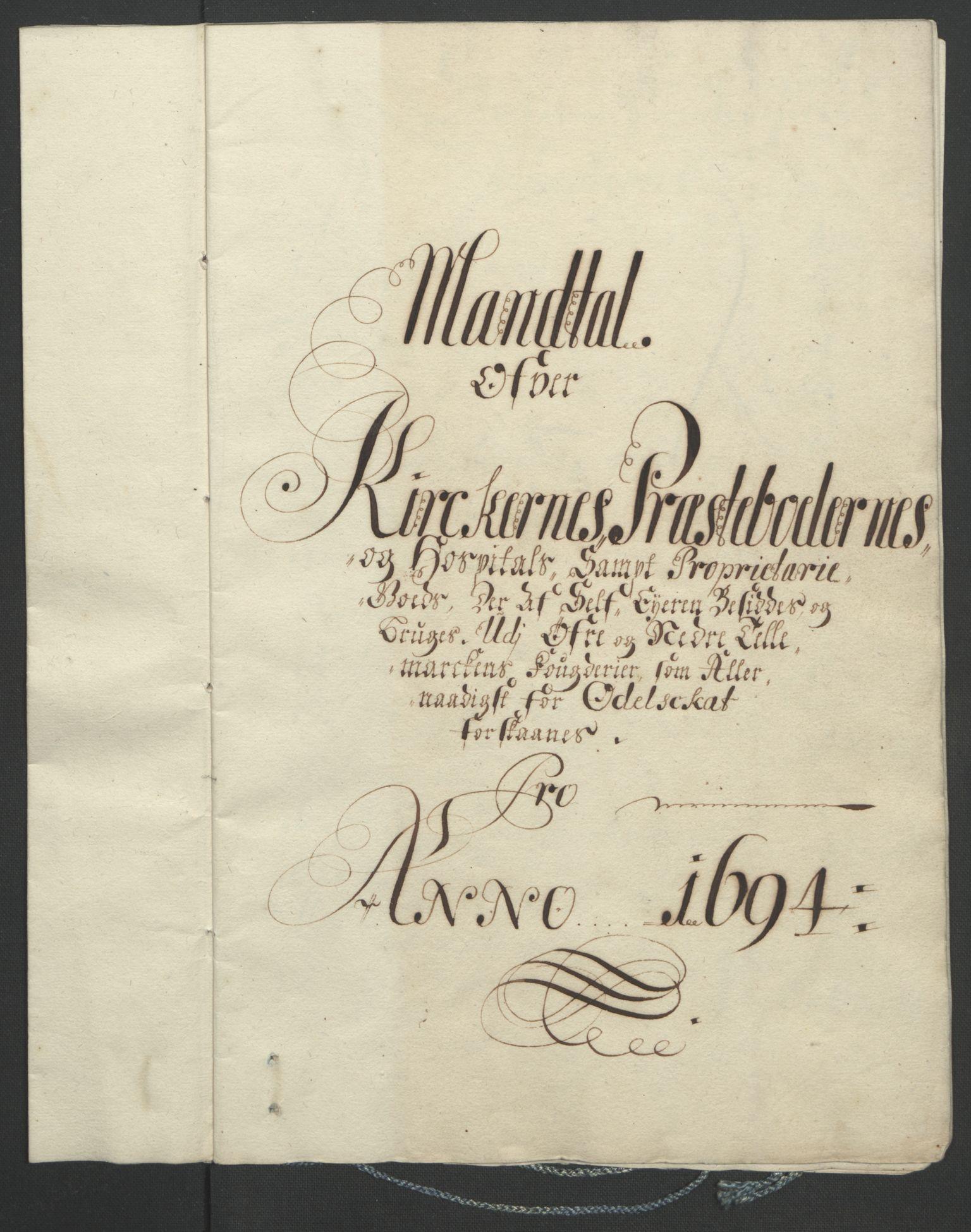 RA, Rentekammeret inntil 1814, Reviderte regnskaper, Fogderegnskap, R36/L2092: Fogderegnskap Øvre og Nedre Telemark og Bamble, 1694, s. 107