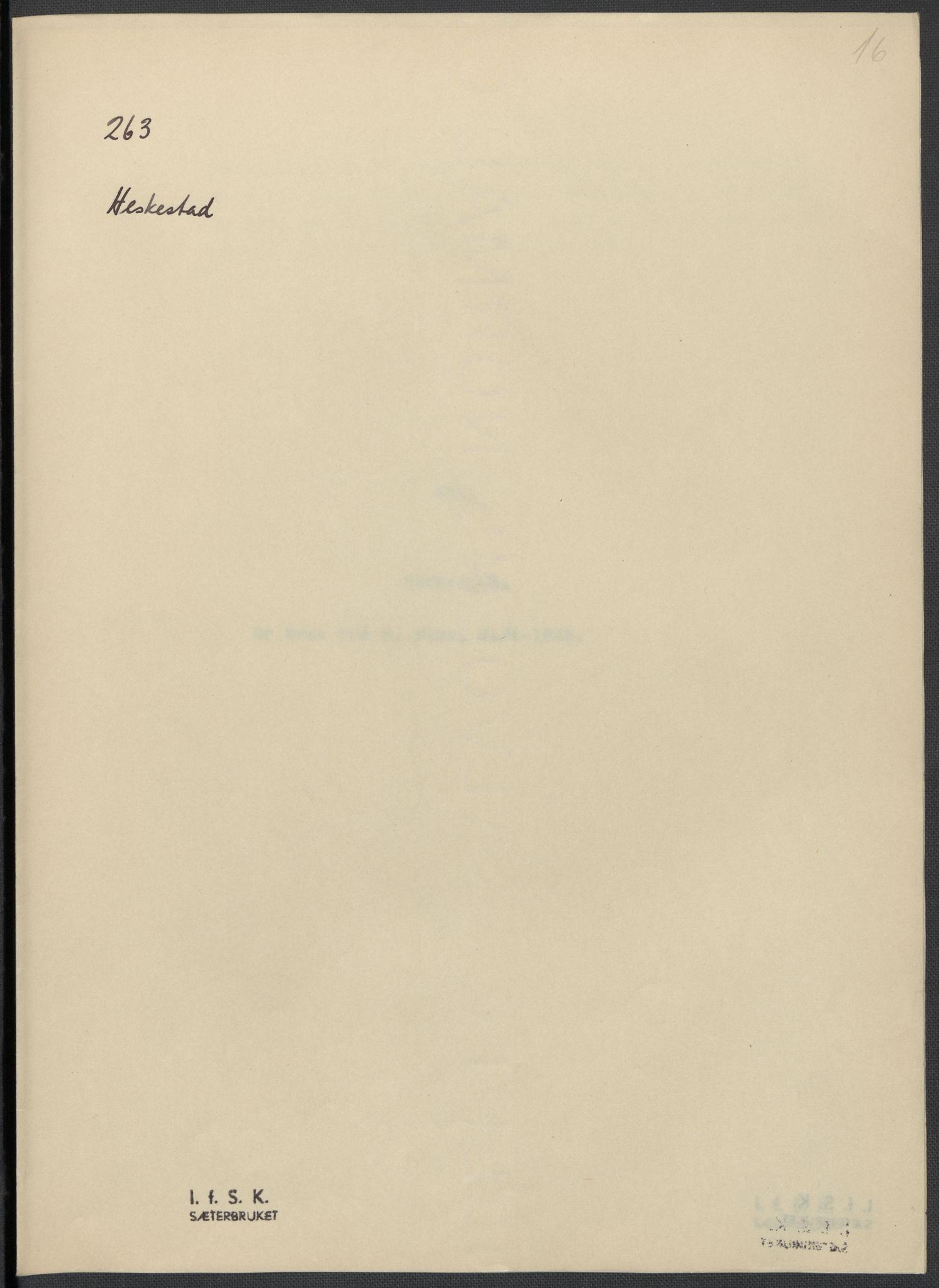RA, Instituttet for sammenlignende kulturforskning, F/Fc/L0009: Eske B9:, 1932-1935, s. 16