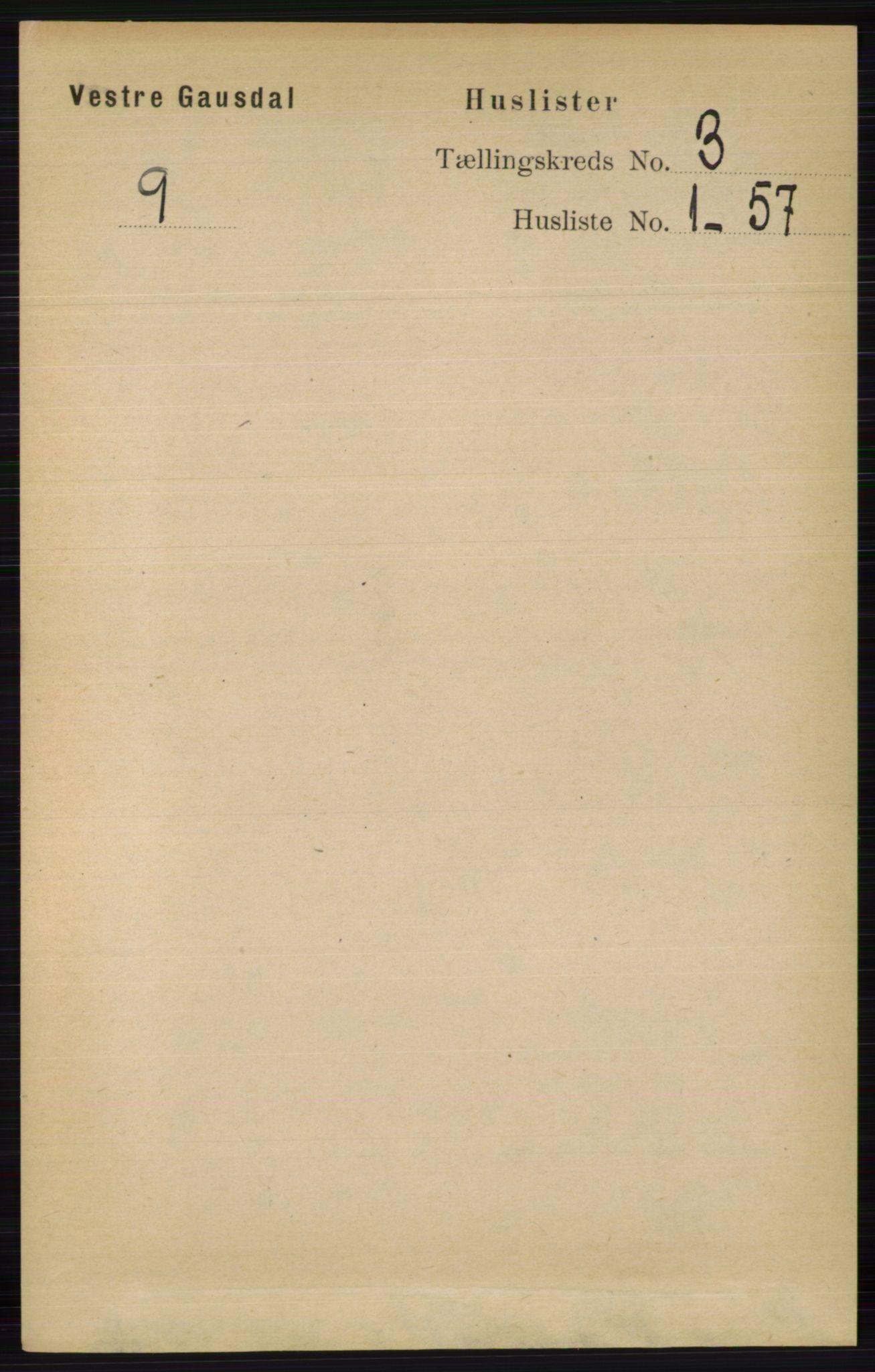 RA, Folketelling 1891 for 0523 Vestre Gausdal herred, 1891, s. 1194