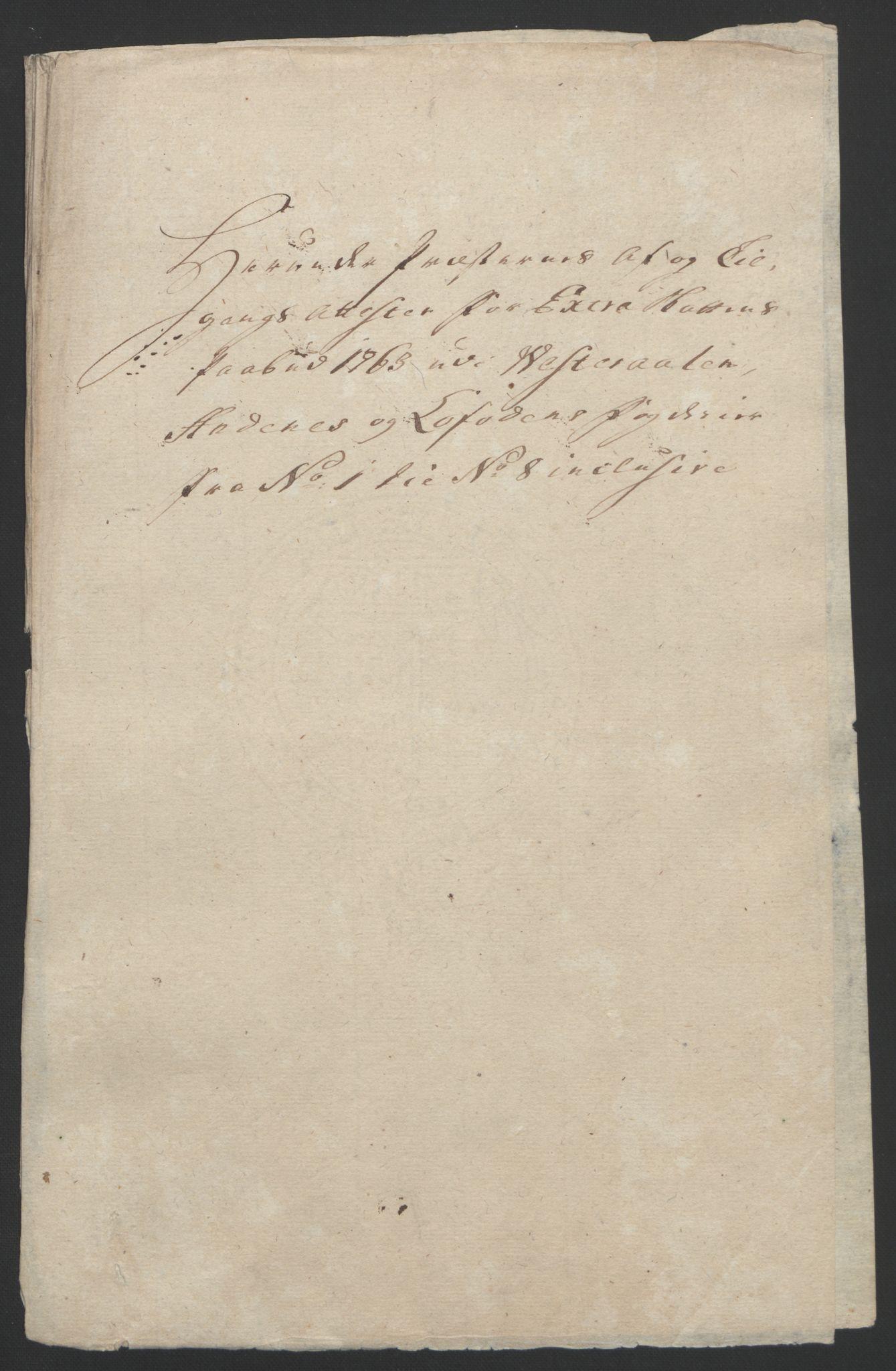 RA, Rentekammeret inntil 1814, Reviderte regnskaper, Fogderegnskap, R67/L4747: Ekstraskatten Vesterålen, Andenes og Lofoten, 1762-1766, s. 166