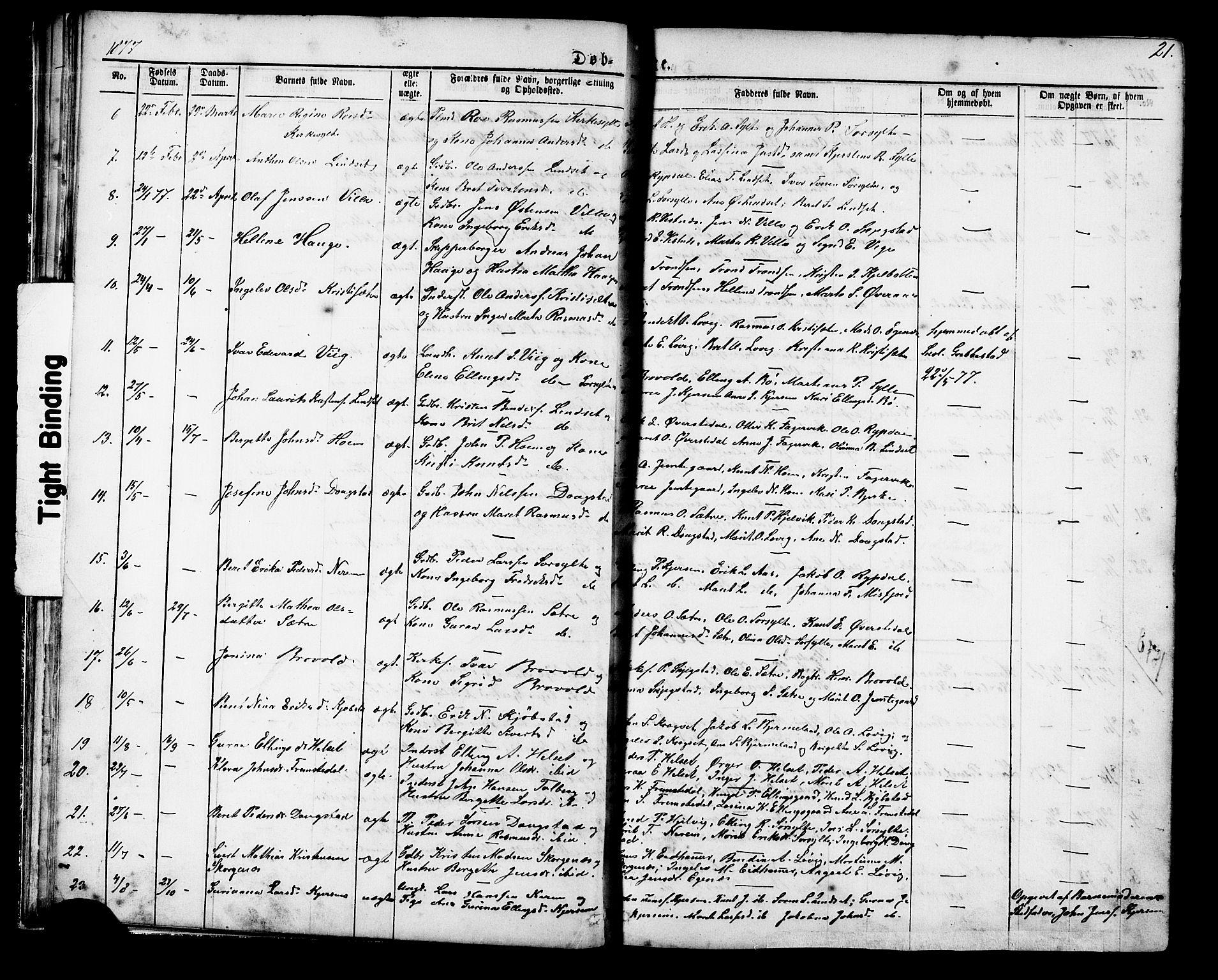 SAT, Ministerialprotokoller, klokkerbøker og fødselsregistre - Møre og Romsdal, 541/L0547: Klokkerbok nr. 541C02, 1867-1921, s. 21