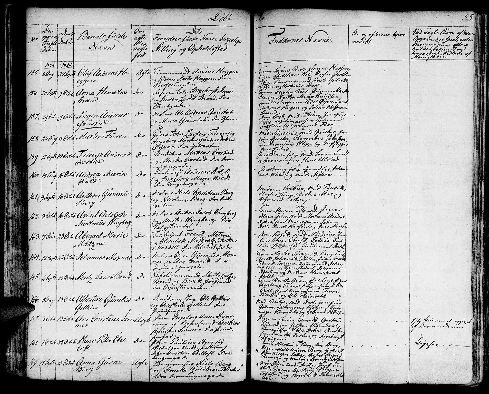SAT, Ministerialprotokoller, klokkerbøker og fødselsregistre - Sør-Trøndelag, 601/L0045: Ministerialbok nr. 601A13, 1821-1831, s. 55
