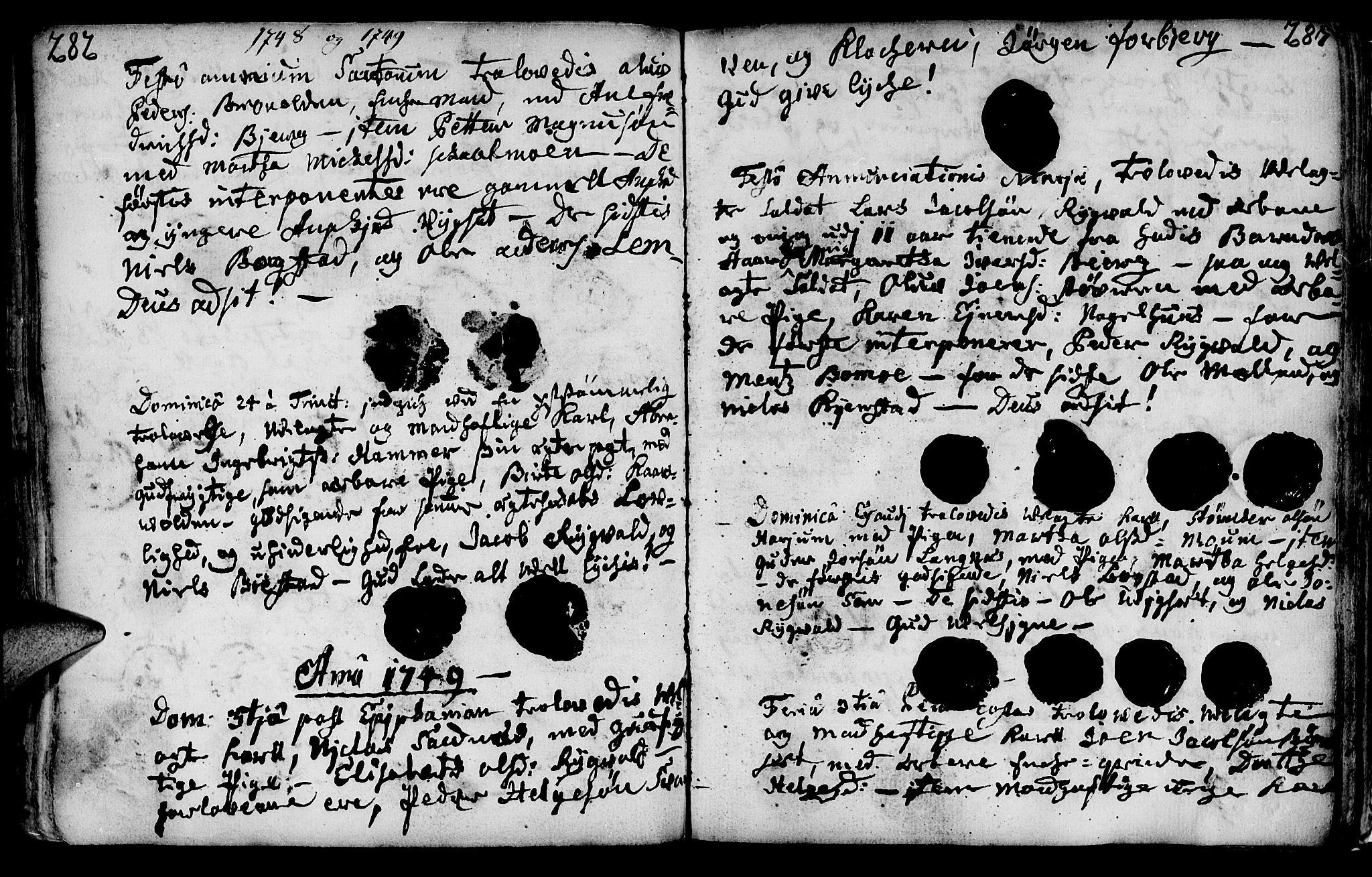 SAT, Ministerialprotokoller, klokkerbøker og fødselsregistre - Nord-Trøndelag, 749/L0467: Ministerialbok nr. 749A01, 1733-1787, s. 282-283