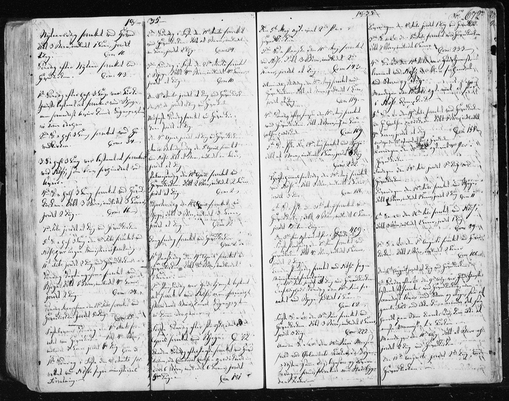 SAT, Ministerialprotokoller, klokkerbøker og fødselsregistre - Sør-Trøndelag, 659/L0735: Ministerialbok nr. 659A05, 1826-1841, s. 672