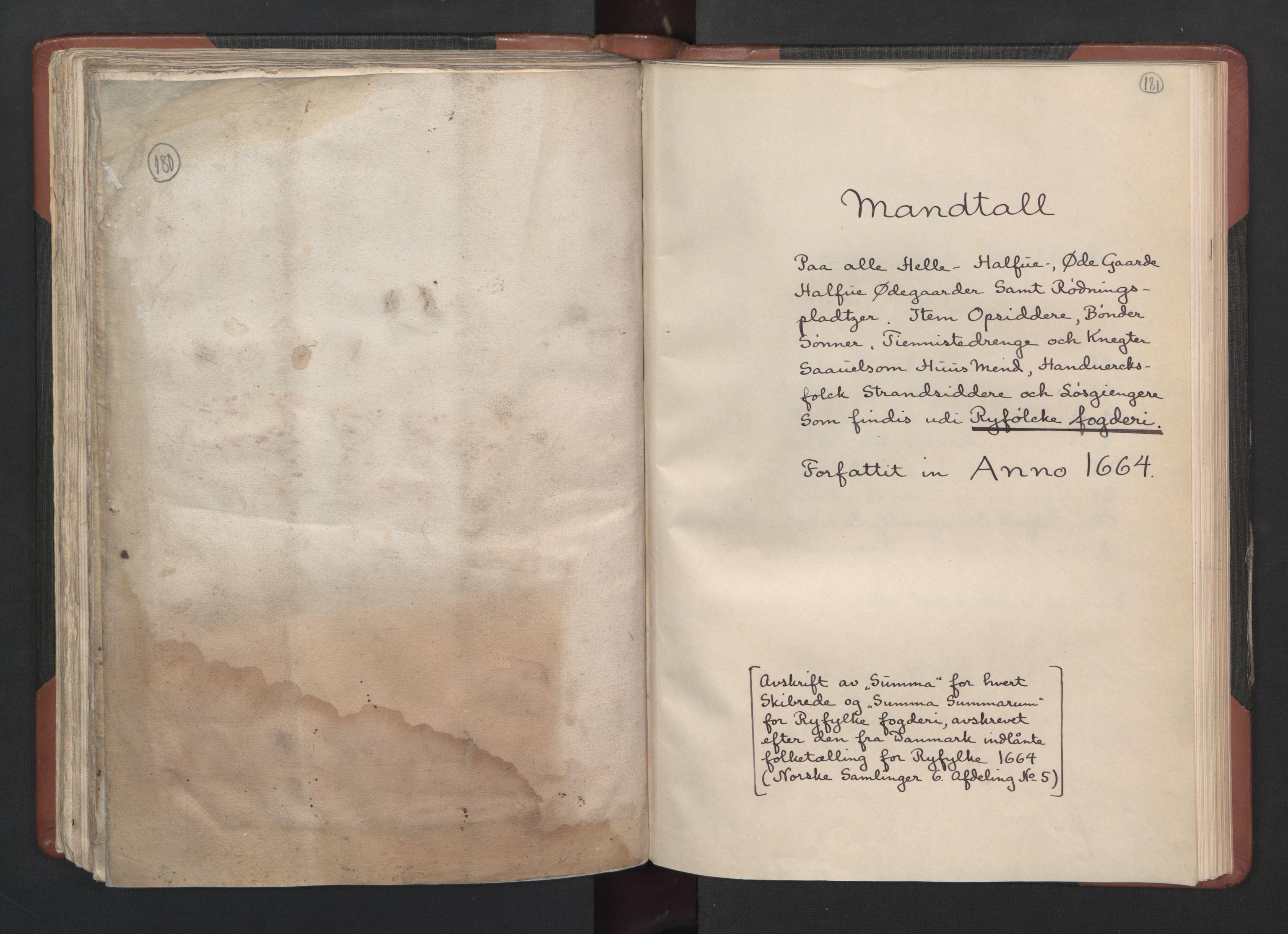 RA, Fogdenes og sorenskrivernes manntall 1664-1666, nr. 12: Ryfylke fogderi, 1664, s. 180-181