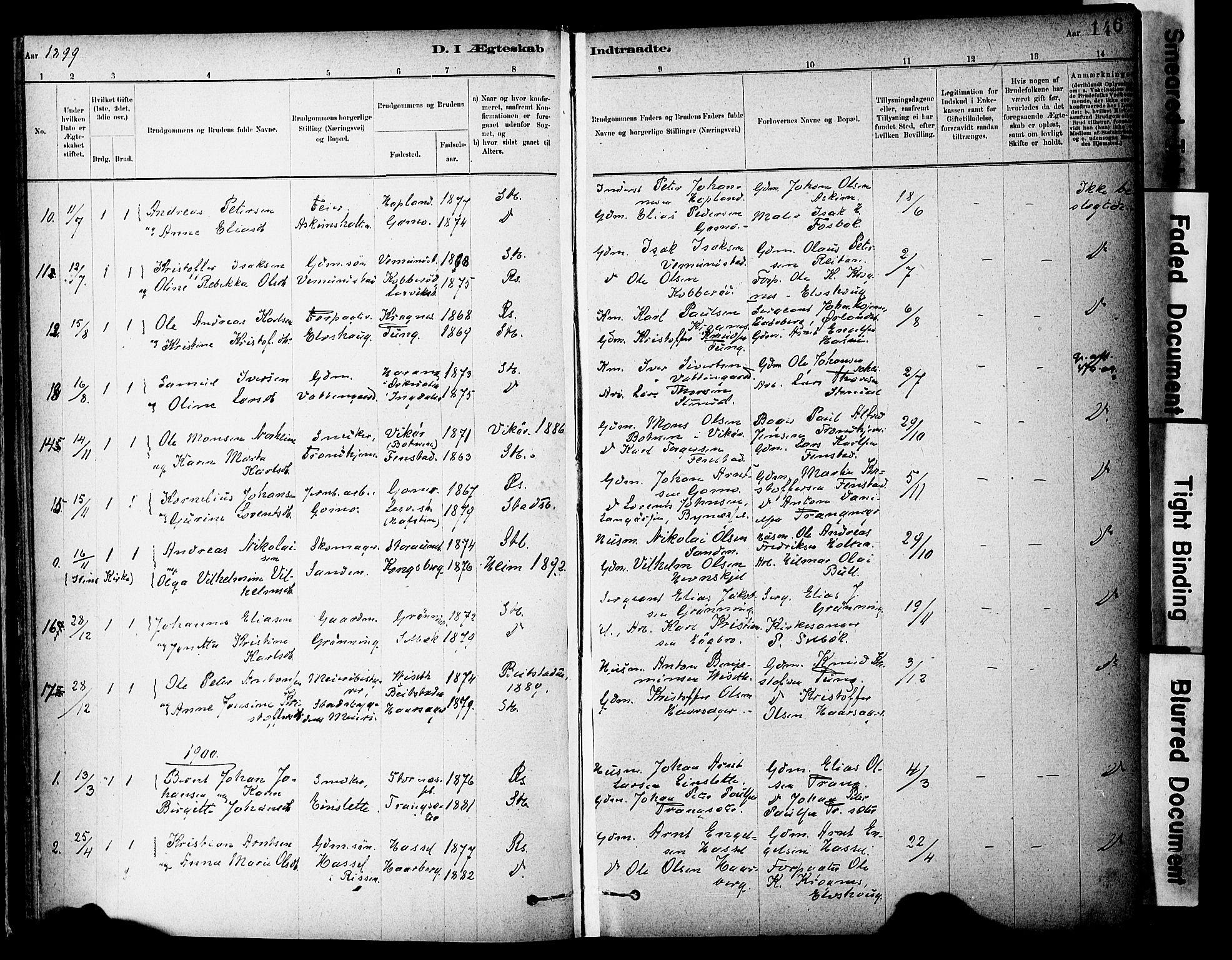 SAT, Ministerialprotokoller, klokkerbøker og fødselsregistre - Sør-Trøndelag, 646/L0615: Ministerialbok nr. 646A13, 1885-1900, s. 146