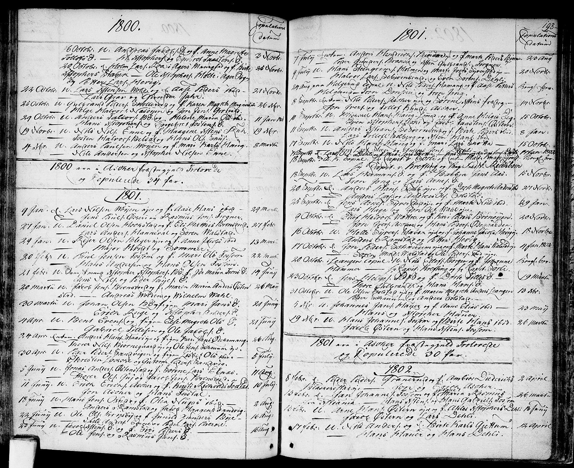 SAO, Asker prestekontor Kirkebøker, F/Fa/L0003: Ministerialbok nr. I 3, 1767-1807, s. 198