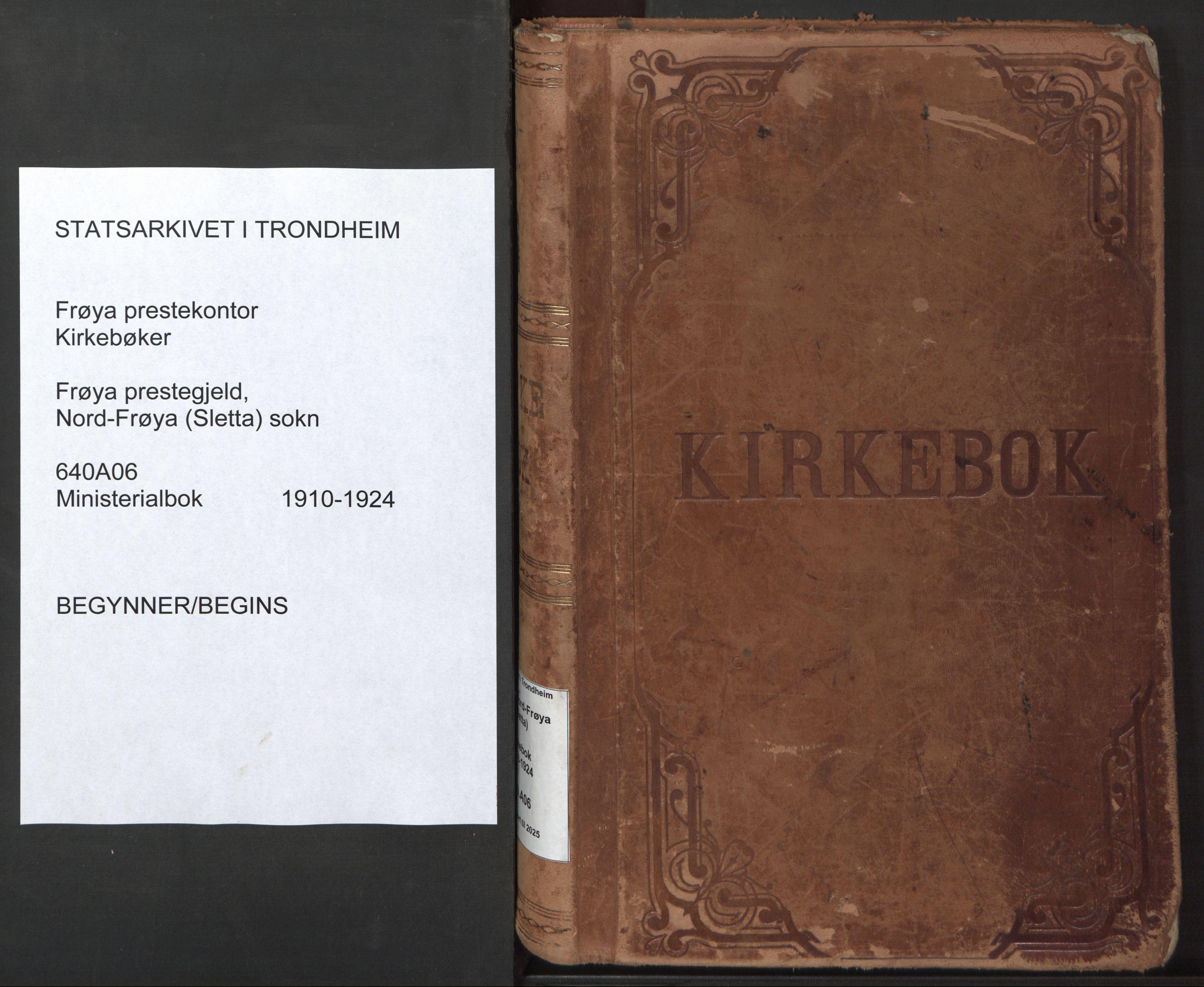SAT, Ministerialprotokoller, klokkerbøker og fødselsregistre - Sør-Trøndelag, 640/L0581: Ministerialbok nr. 640A06, 1910-1924