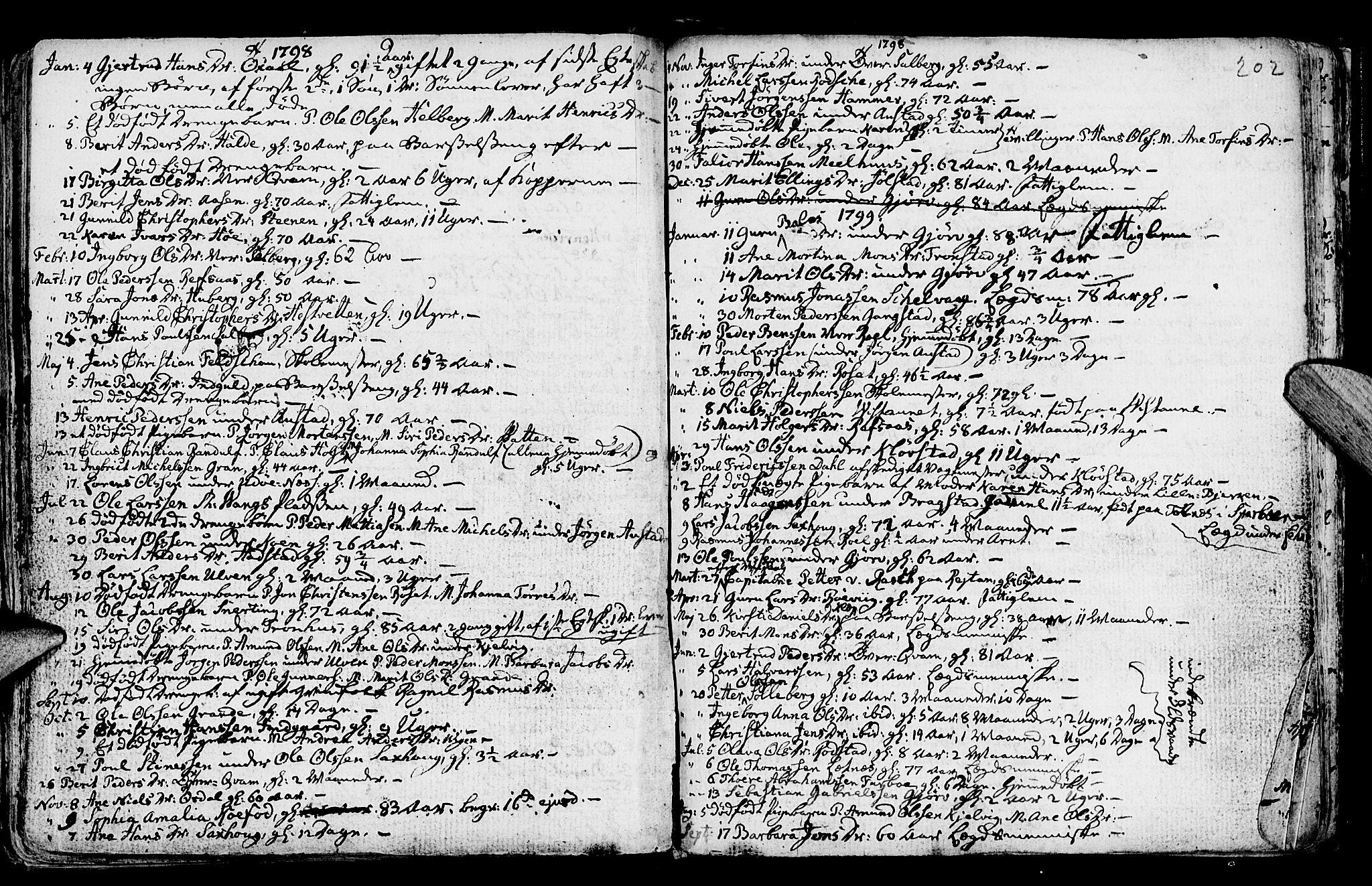 SAT, Ministerialprotokoller, klokkerbøker og fødselsregistre - Nord-Trøndelag, 730/L0273: Ministerialbok nr. 730A02, 1762-1802, s. 202