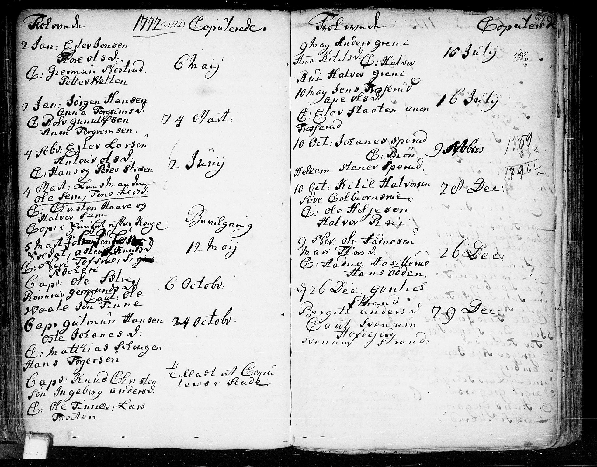SAKO, Heddal kirkebøker, F/Fa/L0003: Ministerialbok nr. I 3, 1723-1783, s. 127