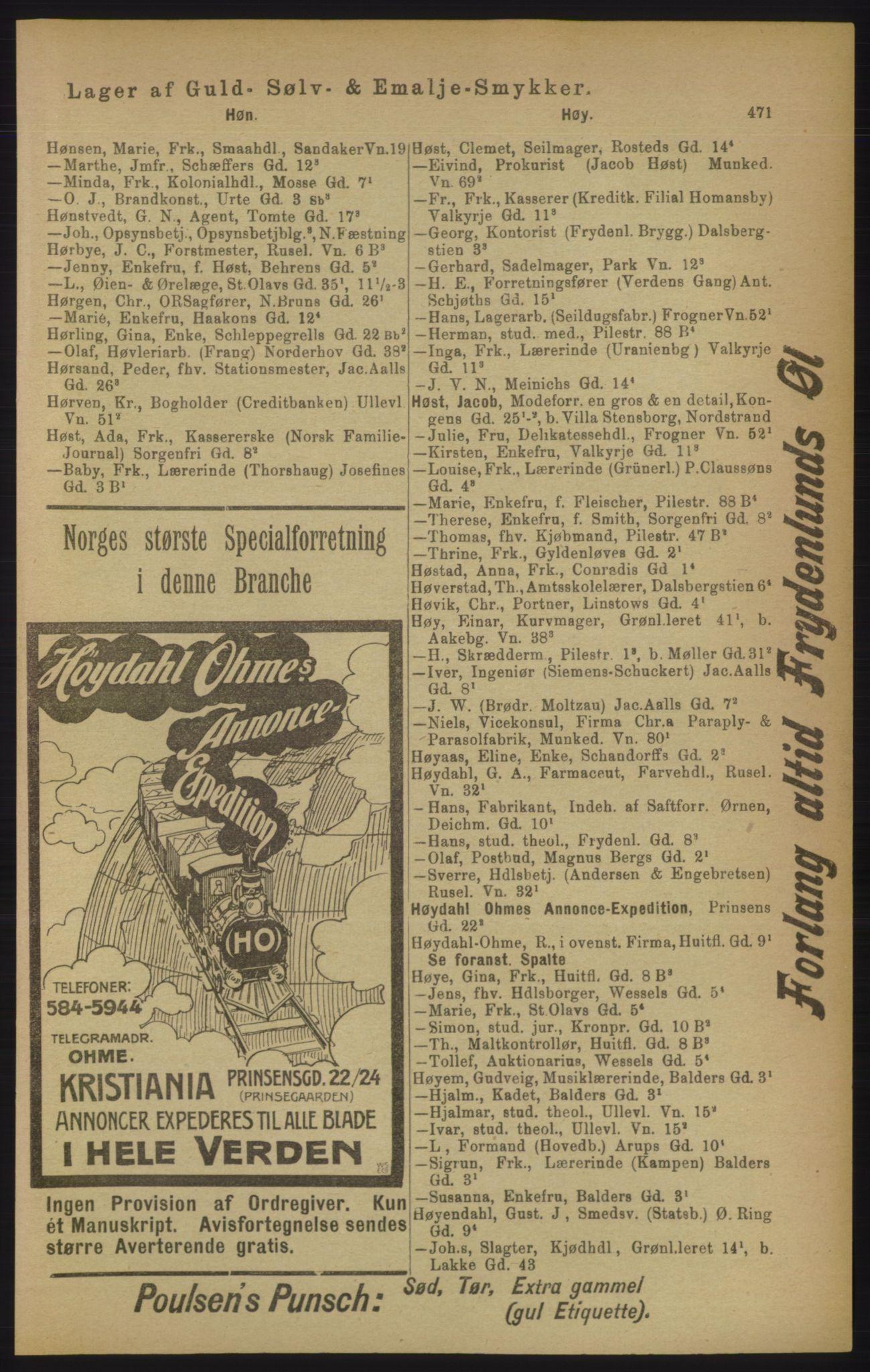 PUBL, Kristiania/Oslo adressebok, 1906, s. 471