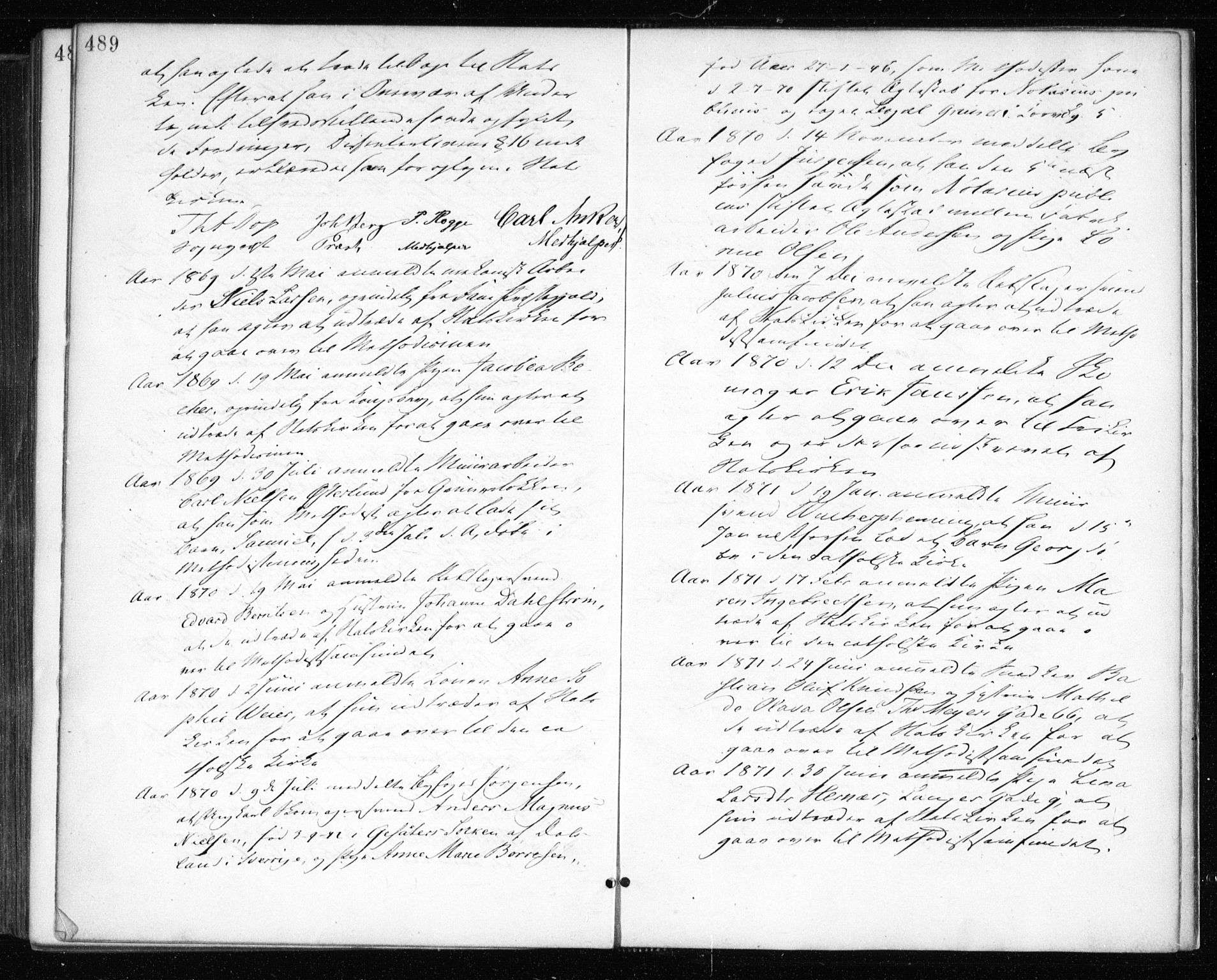 SAO, Gamle Aker prestekontor Kirkebøker, F/L0003: Ministerialbok nr. 3, 1865-1873, s. 489