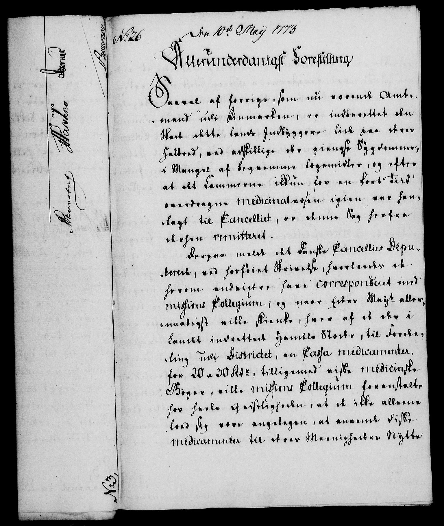 RA, Rentekammeret, Kammerkanselliet, G/Gf/Gfa/L0055: Norsk relasjons- og resolusjonsprotokoll (merket RK 52.55), 1773, s. 111