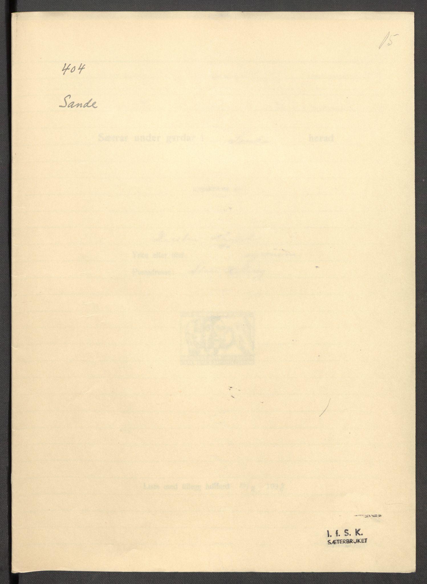 RA, Instituttet for sammenlignende kulturforskning, F/Fc/L0012: Eske B12:, 1934-1936, s. 15