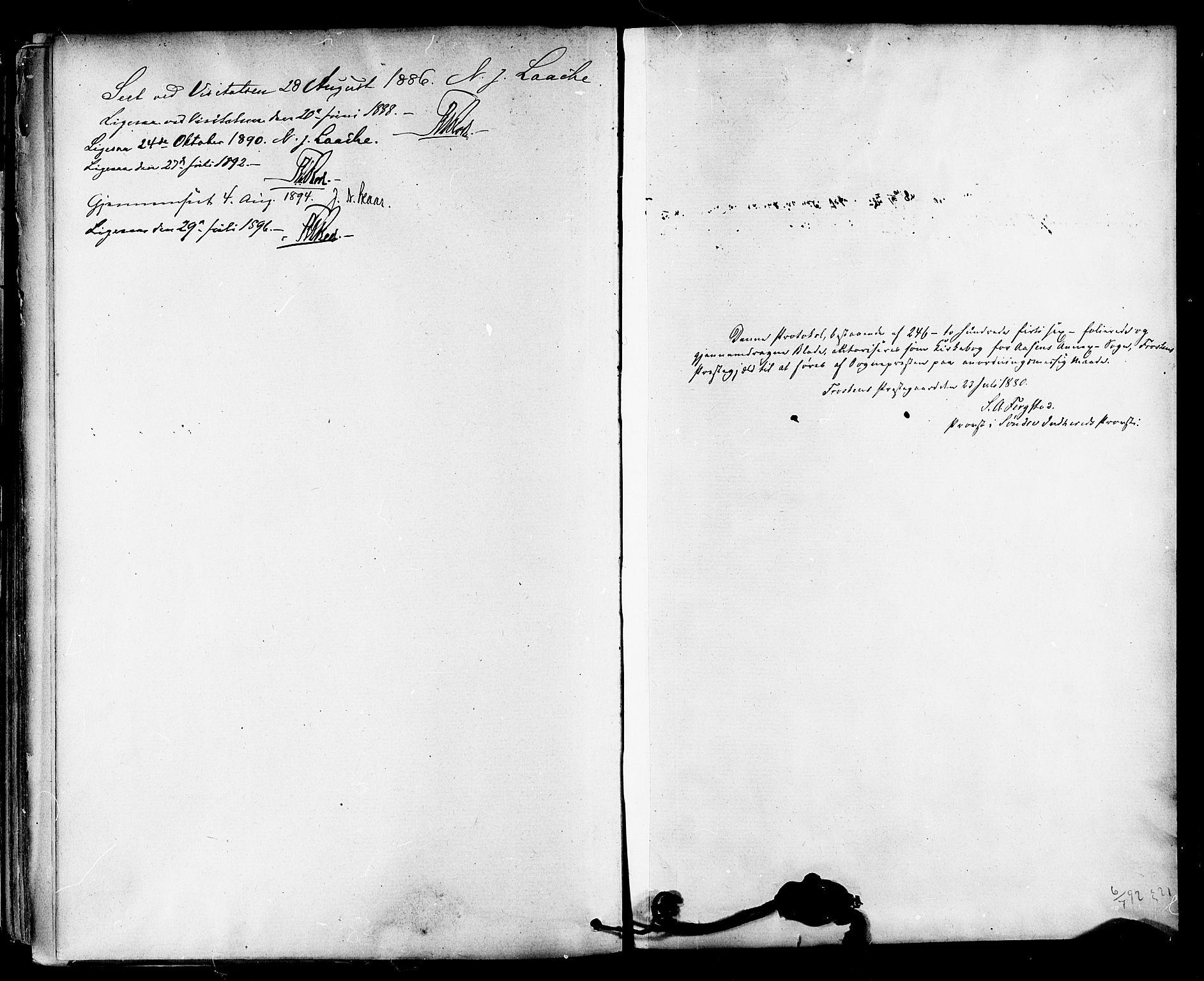SAT, Ministerialprotokoller, klokkerbøker og fødselsregistre - Nord-Trøndelag, 714/L0130: Ministerialbok nr. 714A01, 1878-1895