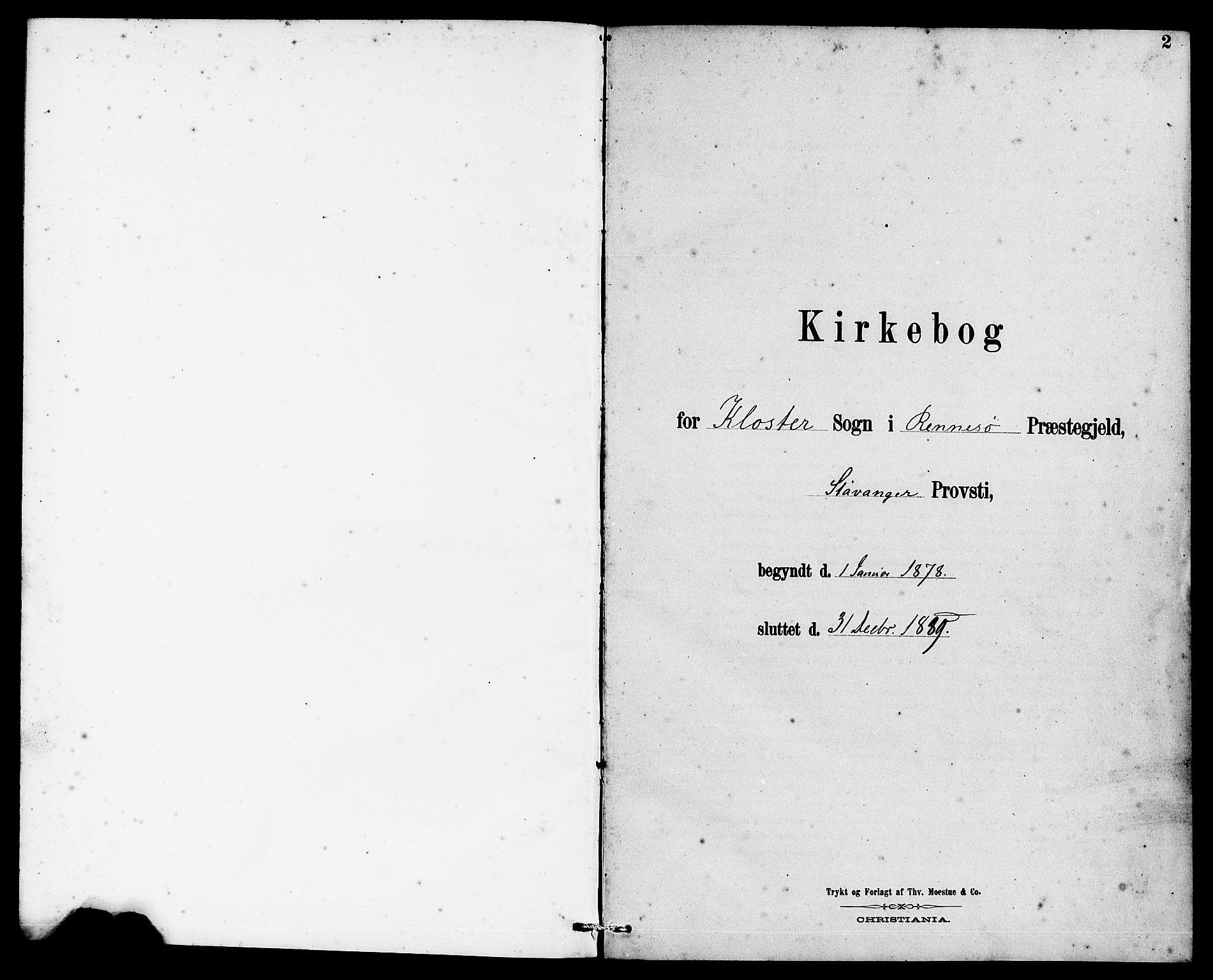 SAST, Rennesøy sokneprestkontor, H/Ha/Haa/L0010: Ministerialbok nr. A 10, 1878-1890, s. 2