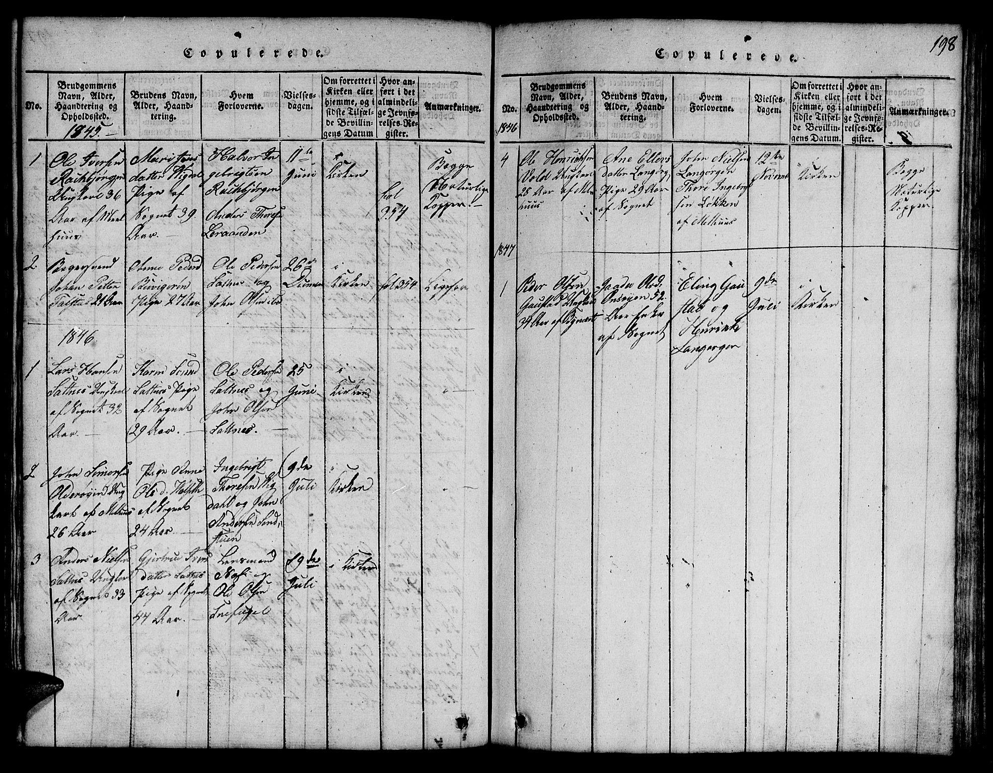 SAT, Ministerialprotokoller, klokkerbøker og fødselsregistre - Sør-Trøndelag, 666/L0788: Klokkerbok nr. 666C01, 1816-1847, s. 198