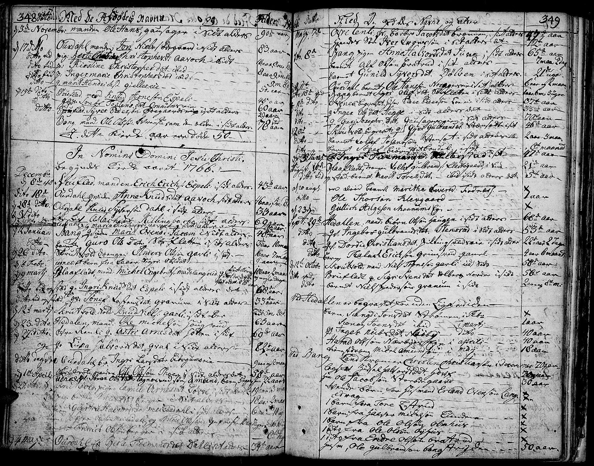 SAH, Aurdal prestekontor, Ministerialbok nr. 5, 1763-1781, s. 348-349