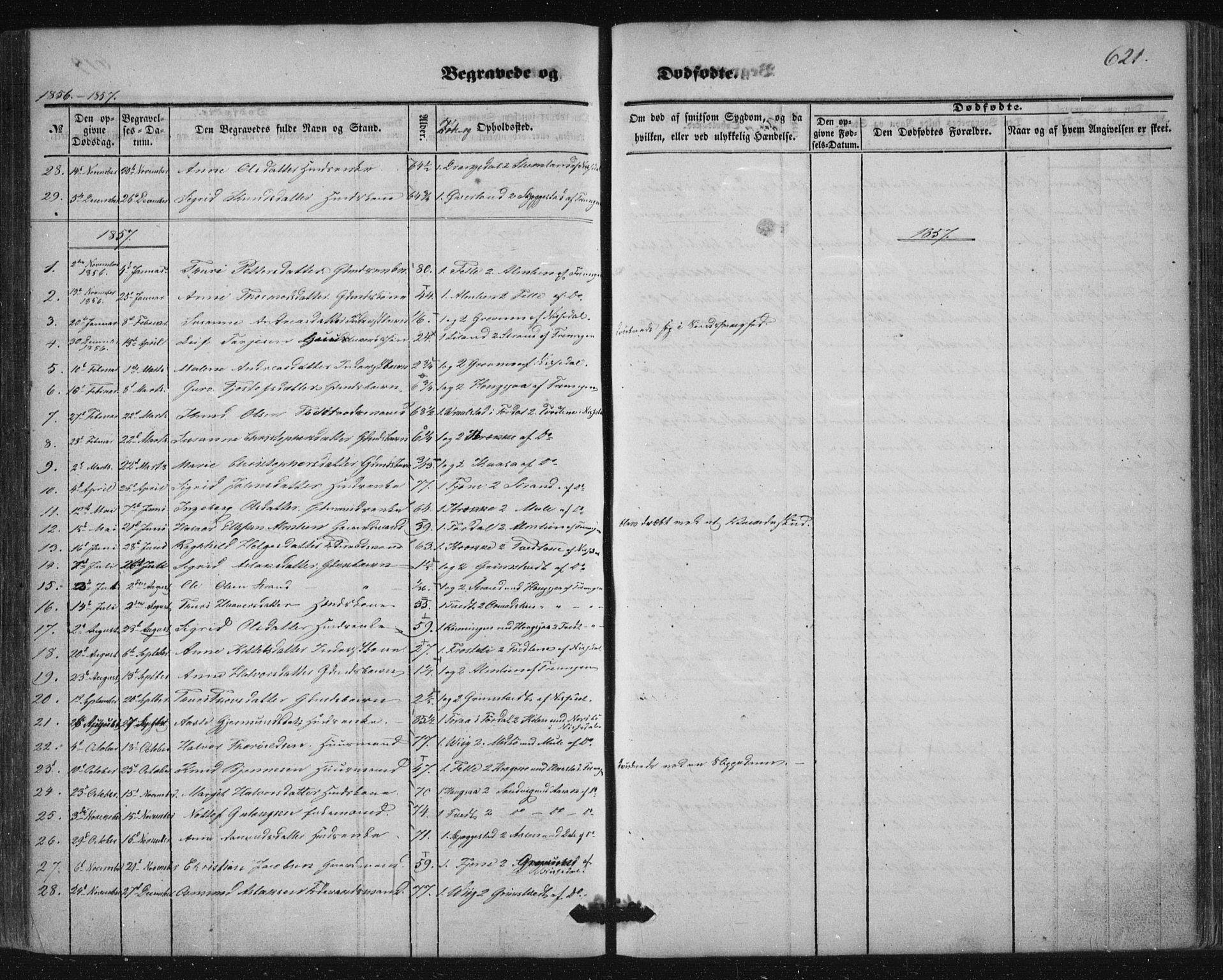 SAKO, Nissedal kirkebøker, F/Fa/L0003: Ministerialbok nr. I 3, 1846-1870, s. 620-621