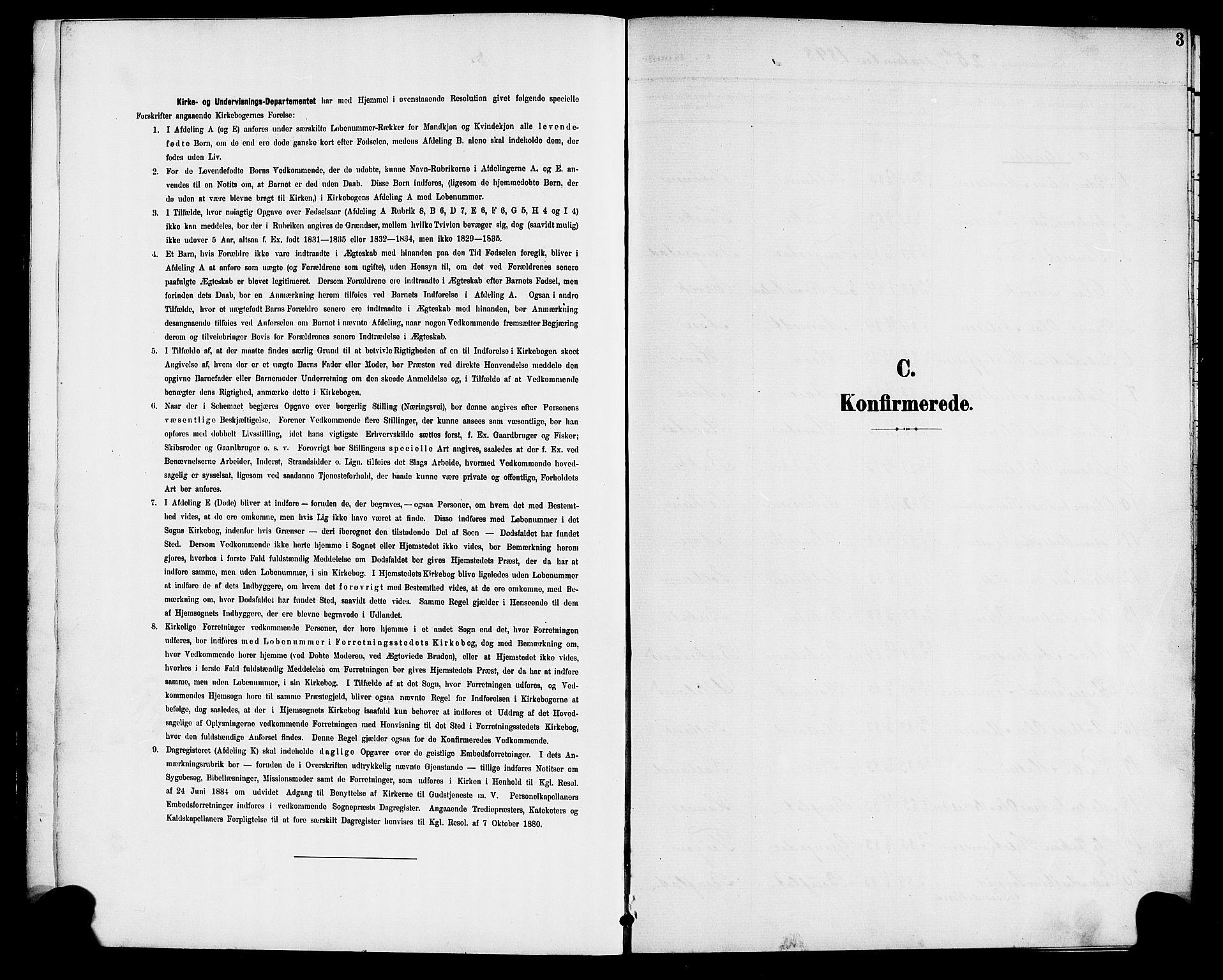 SAB, Førde Sokneprestembete, H/Hab: Klokkerbok nr. D 5, 1898-1911, s. 3
