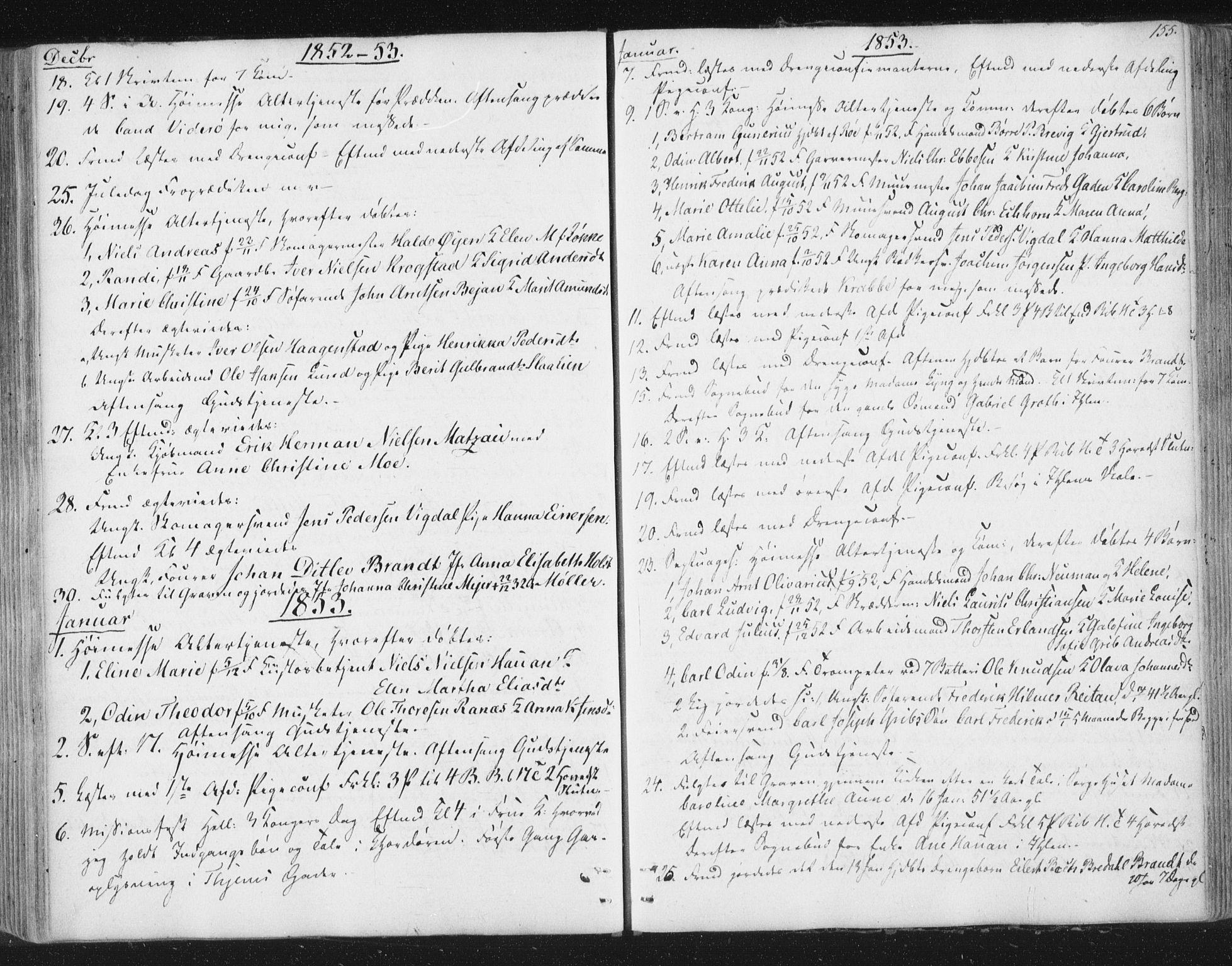 SAT, Ministerialprotokoller, klokkerbøker og fødselsregistre - Sør-Trøndelag, 602/L0127: Residerende kapellans bok nr. 602B01, 1821-1875, s. 155