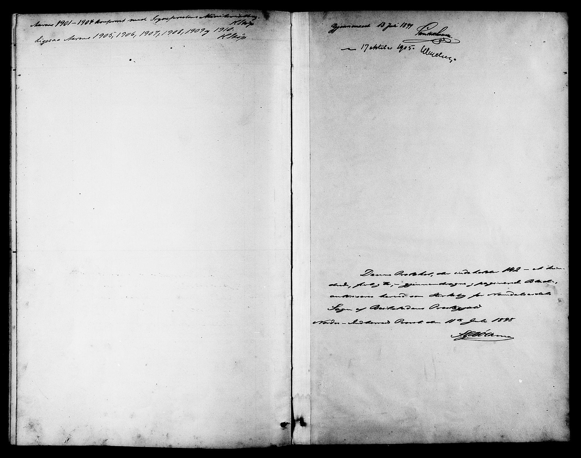 SAT, Ministerialprotokoller, klokkerbøker og fødselsregistre - Nord-Trøndelag, 742/L0412: Klokkerbok nr. 742C03, 1898-1910