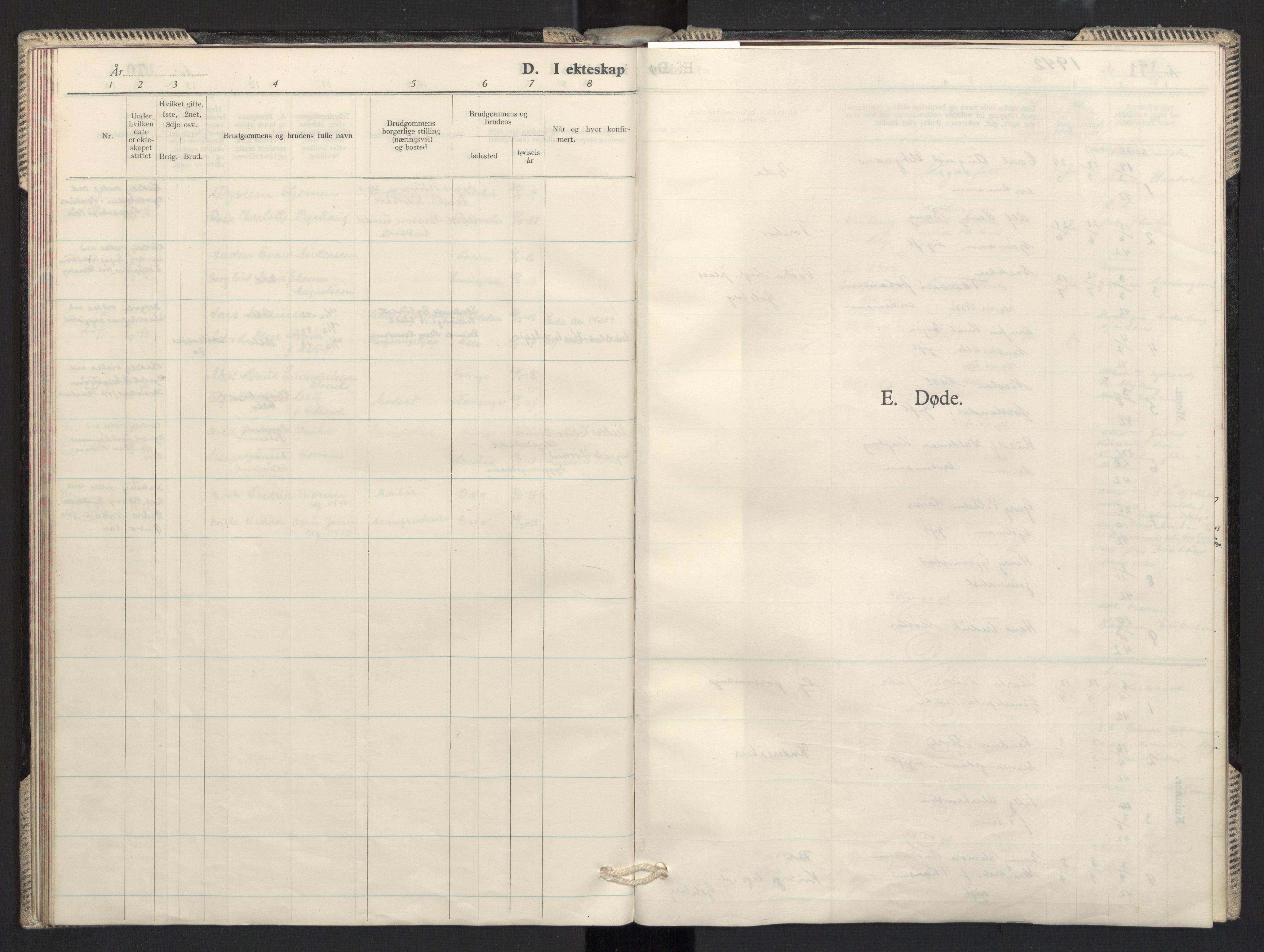SAO, Prestekontoret i Sverige under okkupasjonen Kirkebøker, F/L0001: Ministerialbok nr. 1, 1941-1945