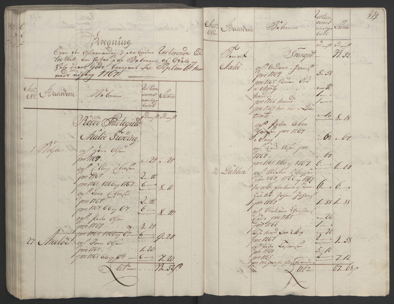 RA, Rentekammeret inntil 1814, Realistisk ordnet avdeling, Ol/L0023: [Gg 10]: Ekstraskatten, 23.09.1762. Helgeland (restanseregister), 1767-1772, s. 235