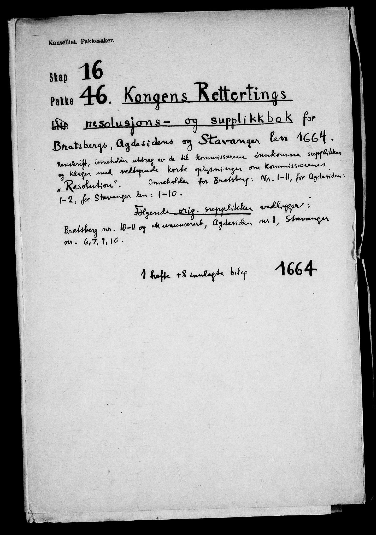RA, Danske Kanselli, Skapsaker, F/L0116: Skap 16, pakke 42-47, 1625-1717, s. 232