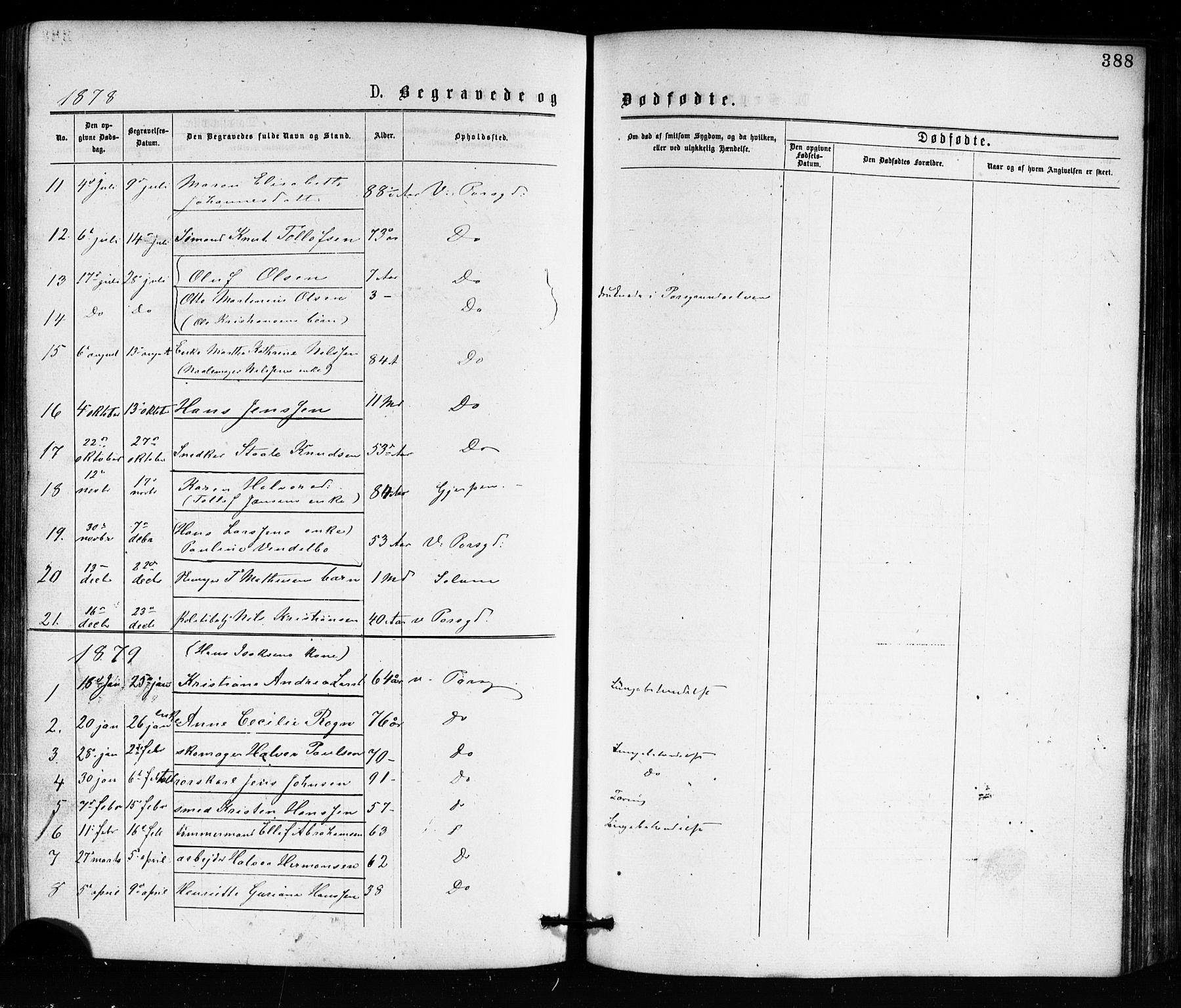 SAKO, Porsgrunn kirkebøker , G/Ga/L0003: Klokkerbok nr. I 3, 1877-1915, s. 388