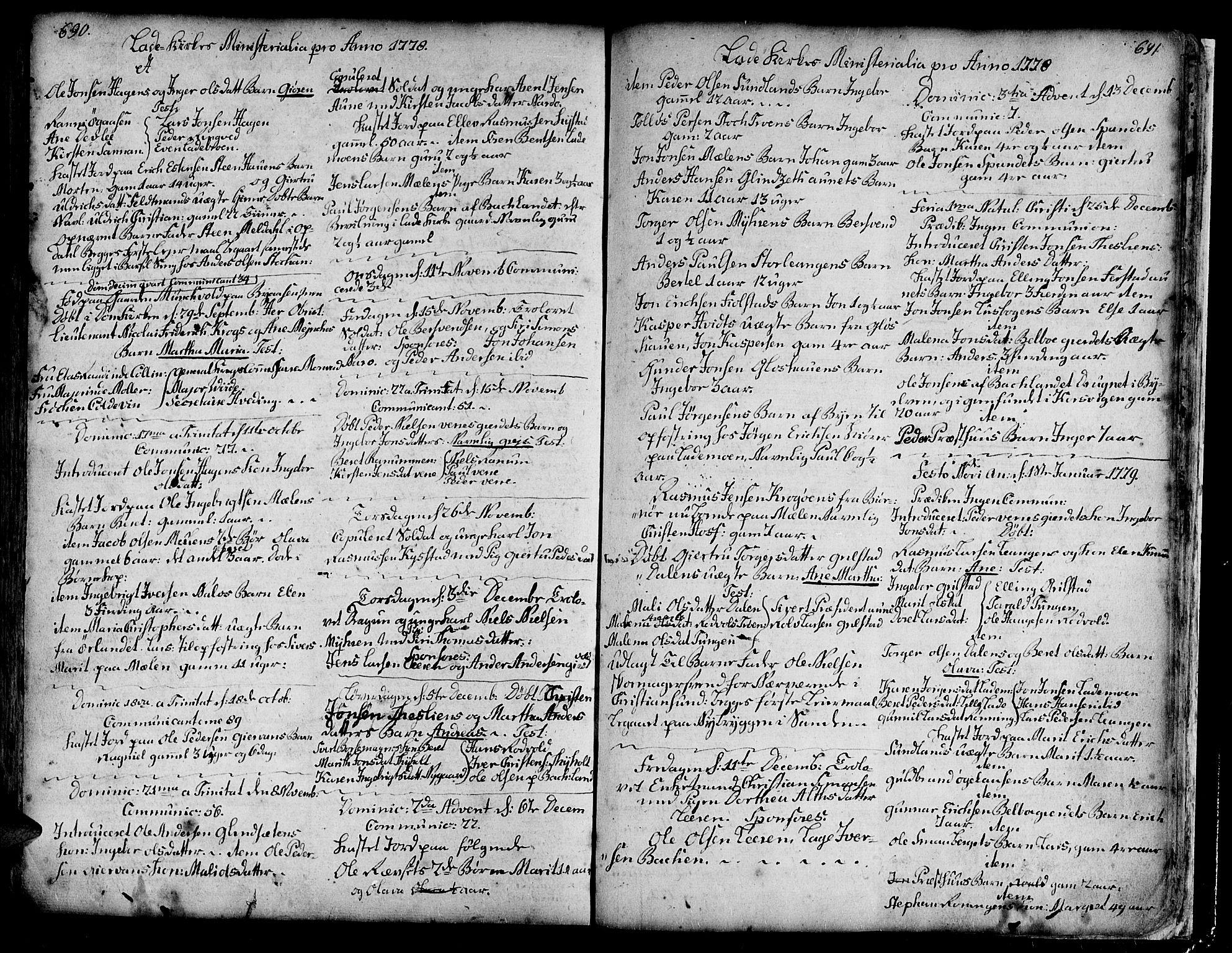 SAT, Ministerialprotokoller, klokkerbøker og fødselsregistre - Sør-Trøndelag, 606/L0275: Ministerialbok nr. 606A01 /1, 1727-1780, s. 690-691