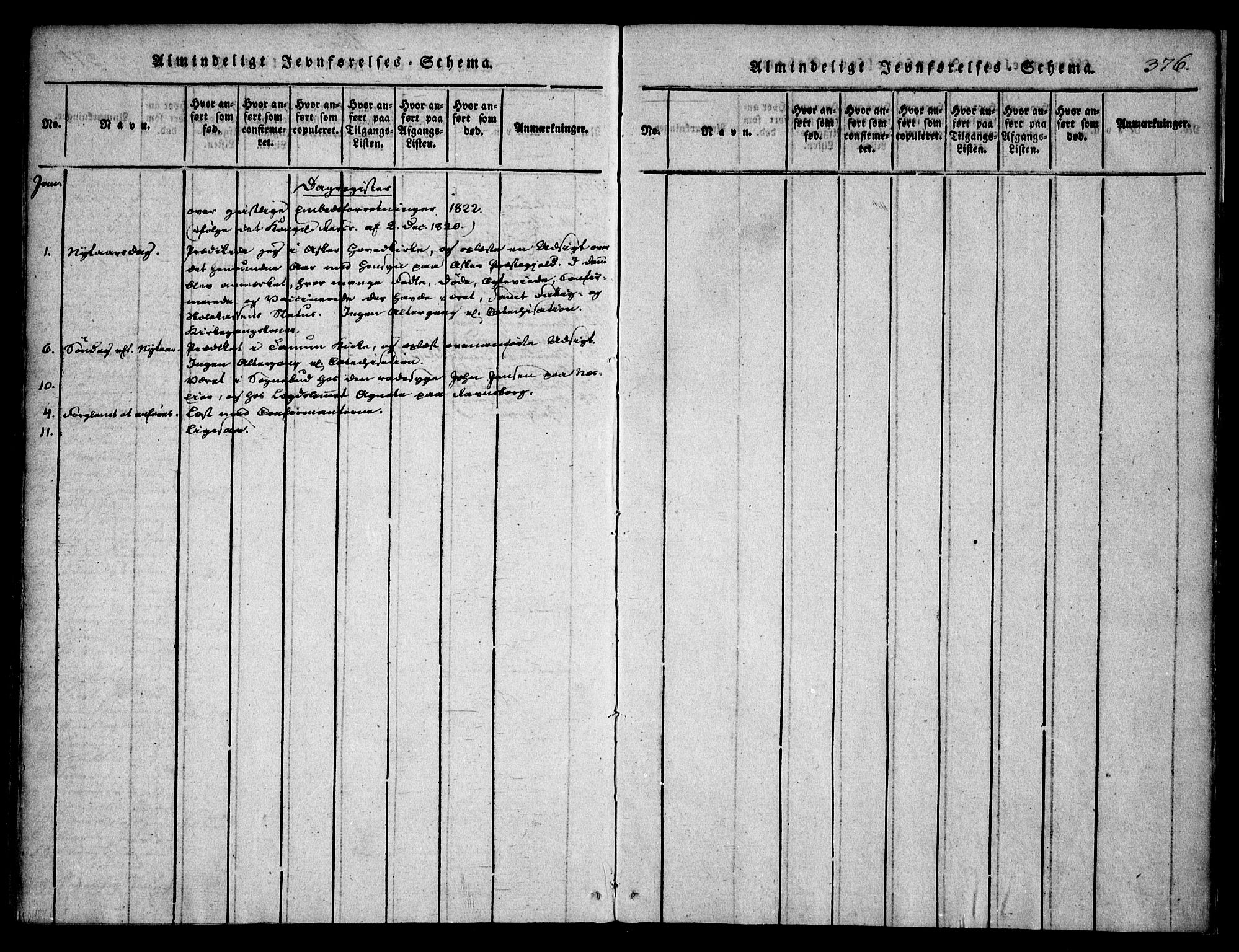 SAO, Asker prestekontor Kirkebøker, F/Fa/L0006: Ministerialbok nr. I 6, 1814-1824, s. 376