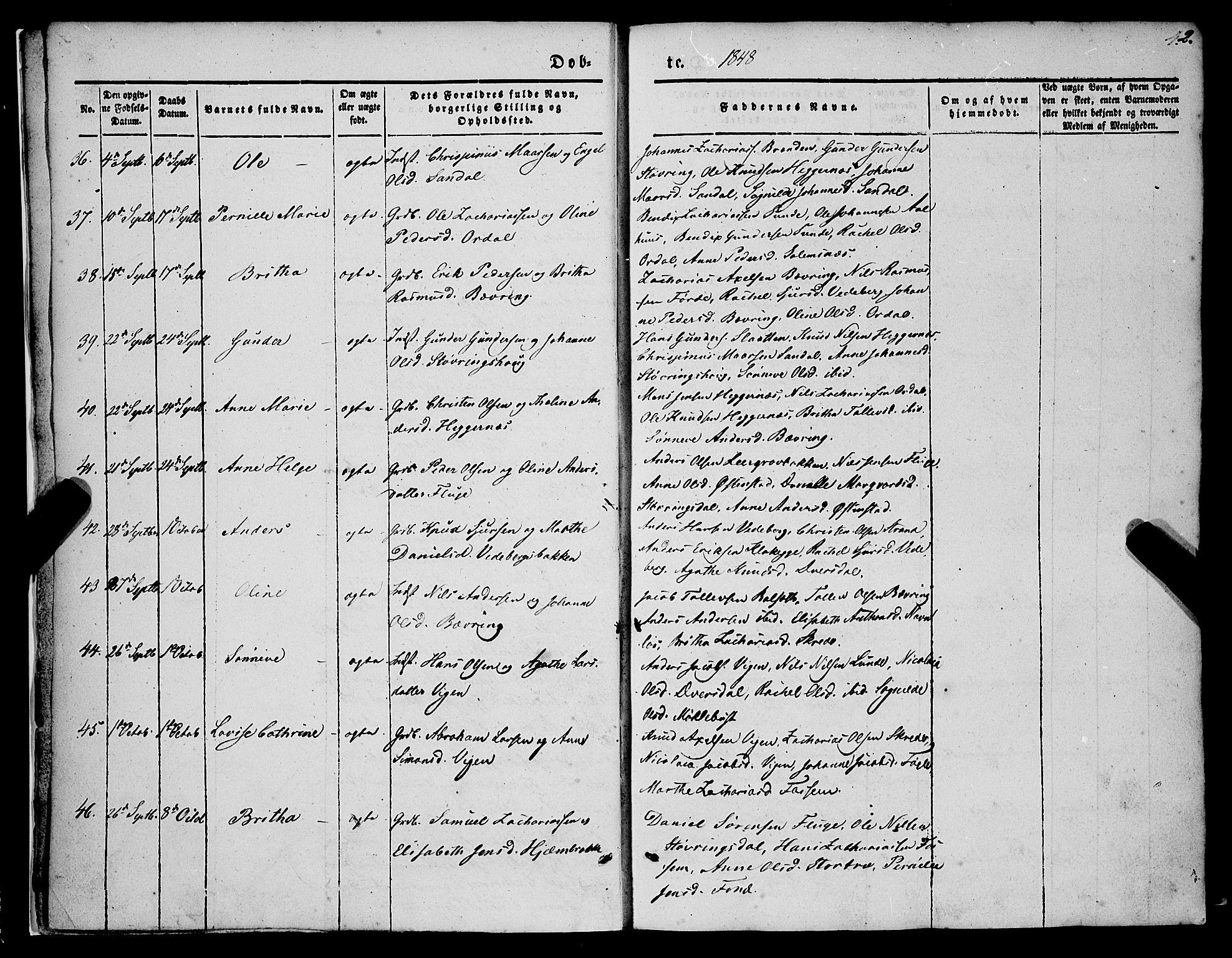 SAB, Jølster Sokneprestembete, Ministerialbok nr. A 10, 1847-1865, s. 2