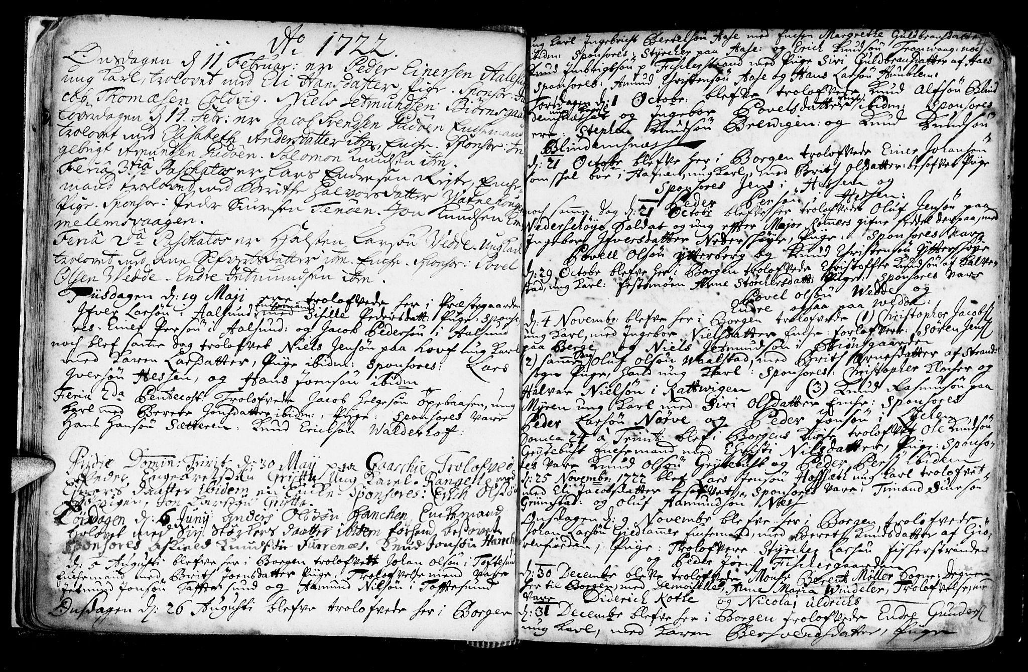 SAT, Ministerialprotokoller, klokkerbøker og fødselsregistre - Møre og Romsdal, 528/L0390: Ministerialbok nr. 528A01, 1698-1739, s. 42-43