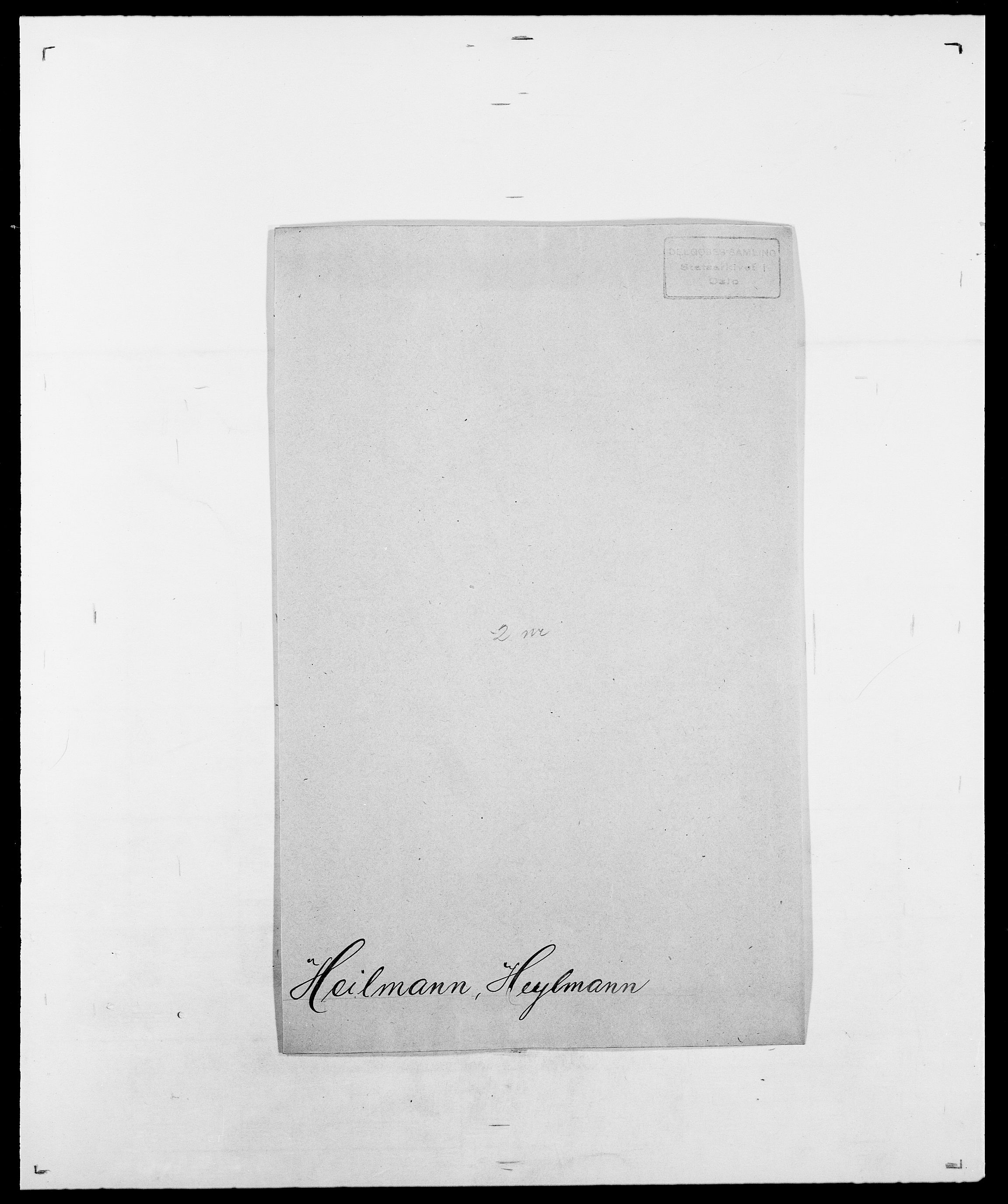 SAO, Delgobe, Charles Antoine - samling, D/Da/L0016: Hamborg - Hektoen, s. 829