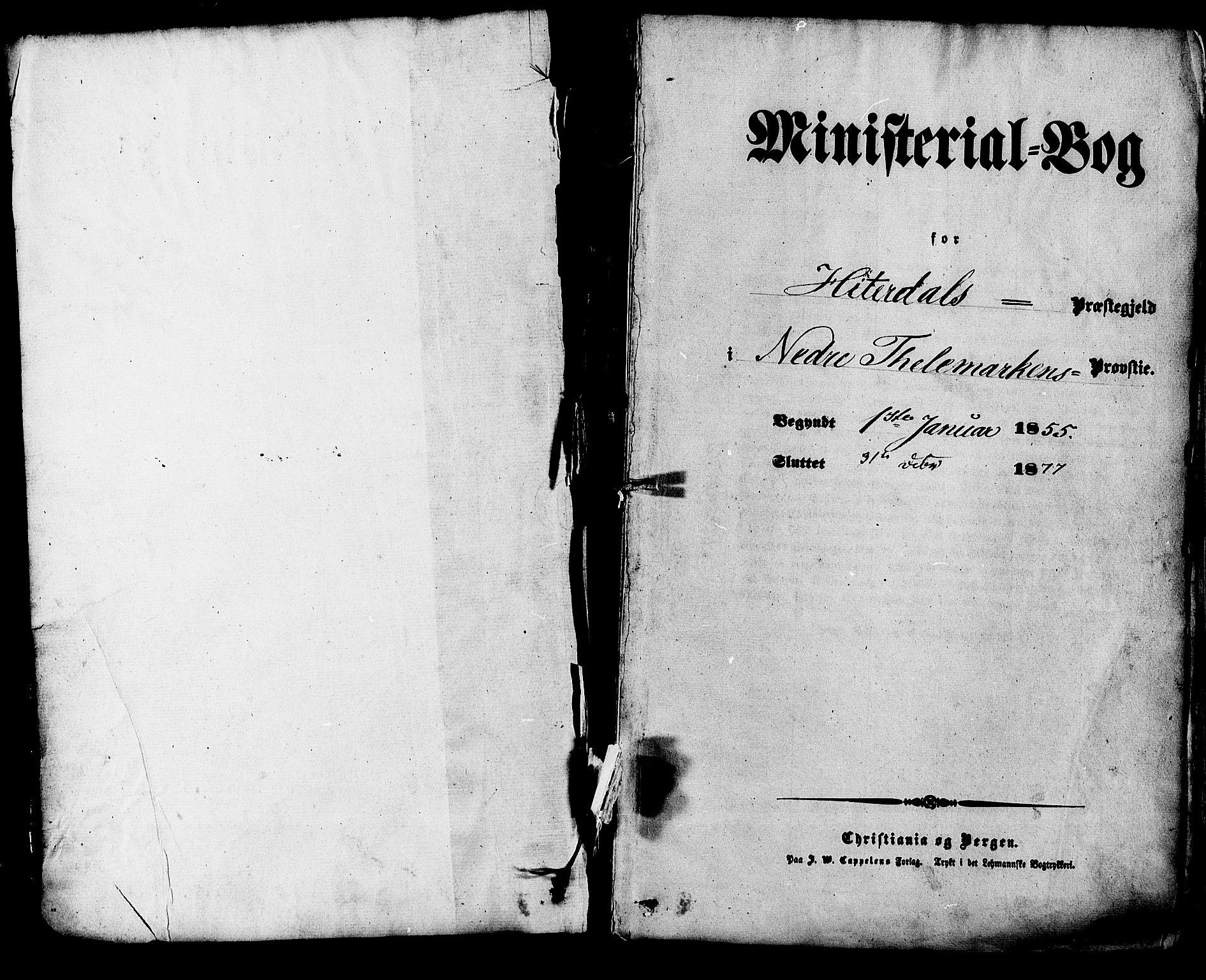 SAKO, Heddal kirkebøker, F/Fa/L0007: Ministerialbok nr. I 7, 1855-1877